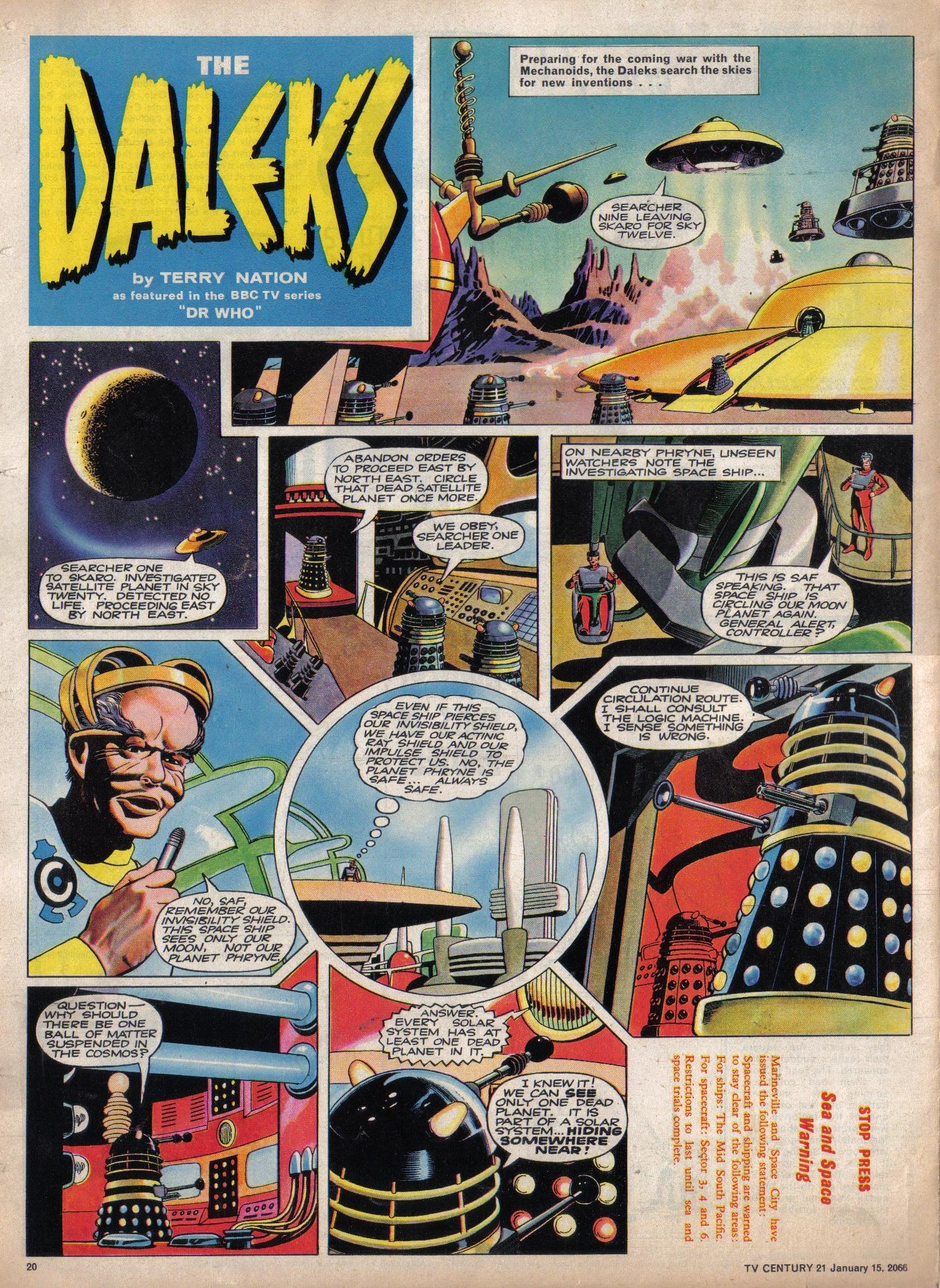 Read online TV Century 21 (TV 21) comic -  Issue #52 - 19