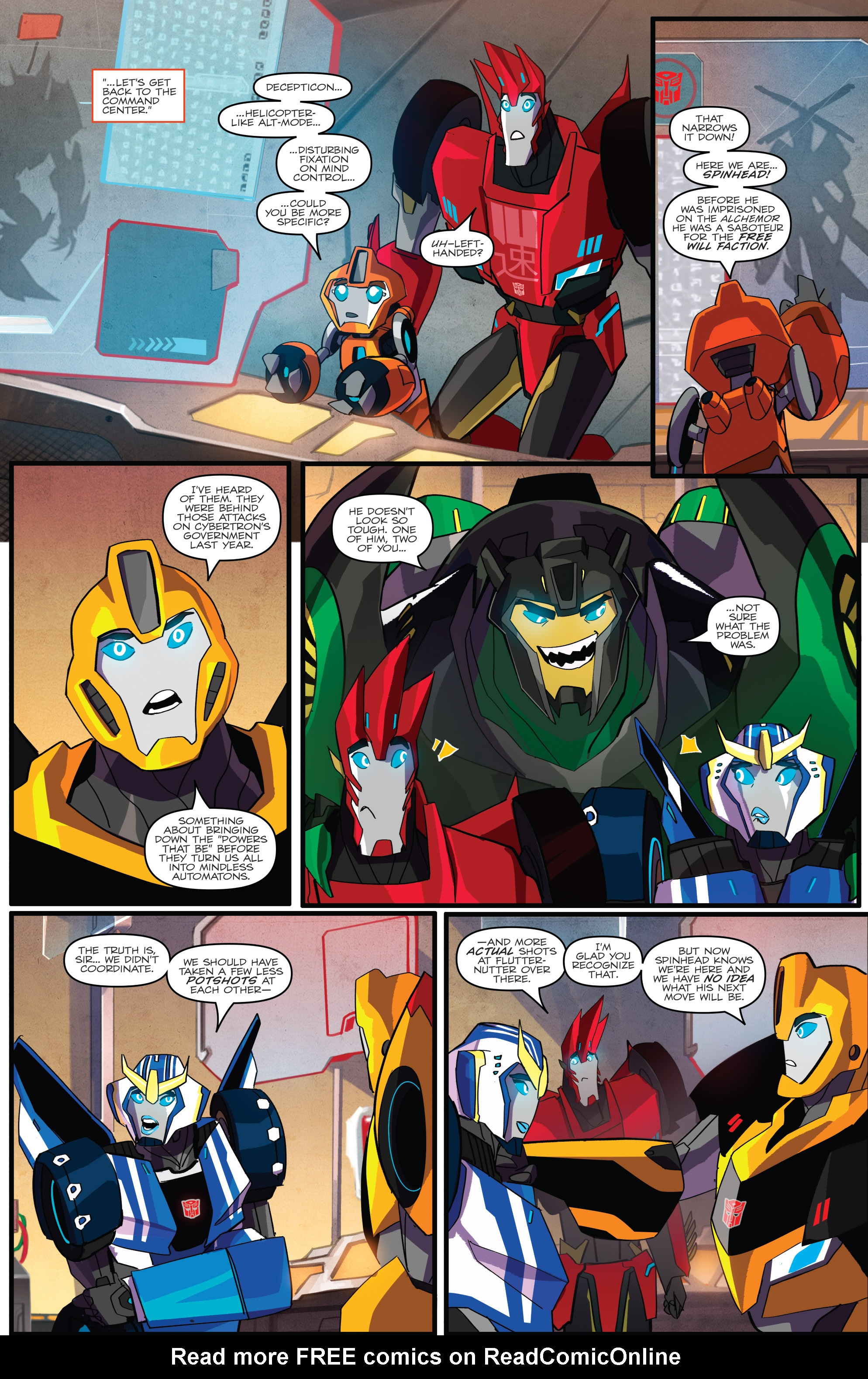 Read online Transformers: Robots In Disguise (2015) comic -  Issue #1 - 13