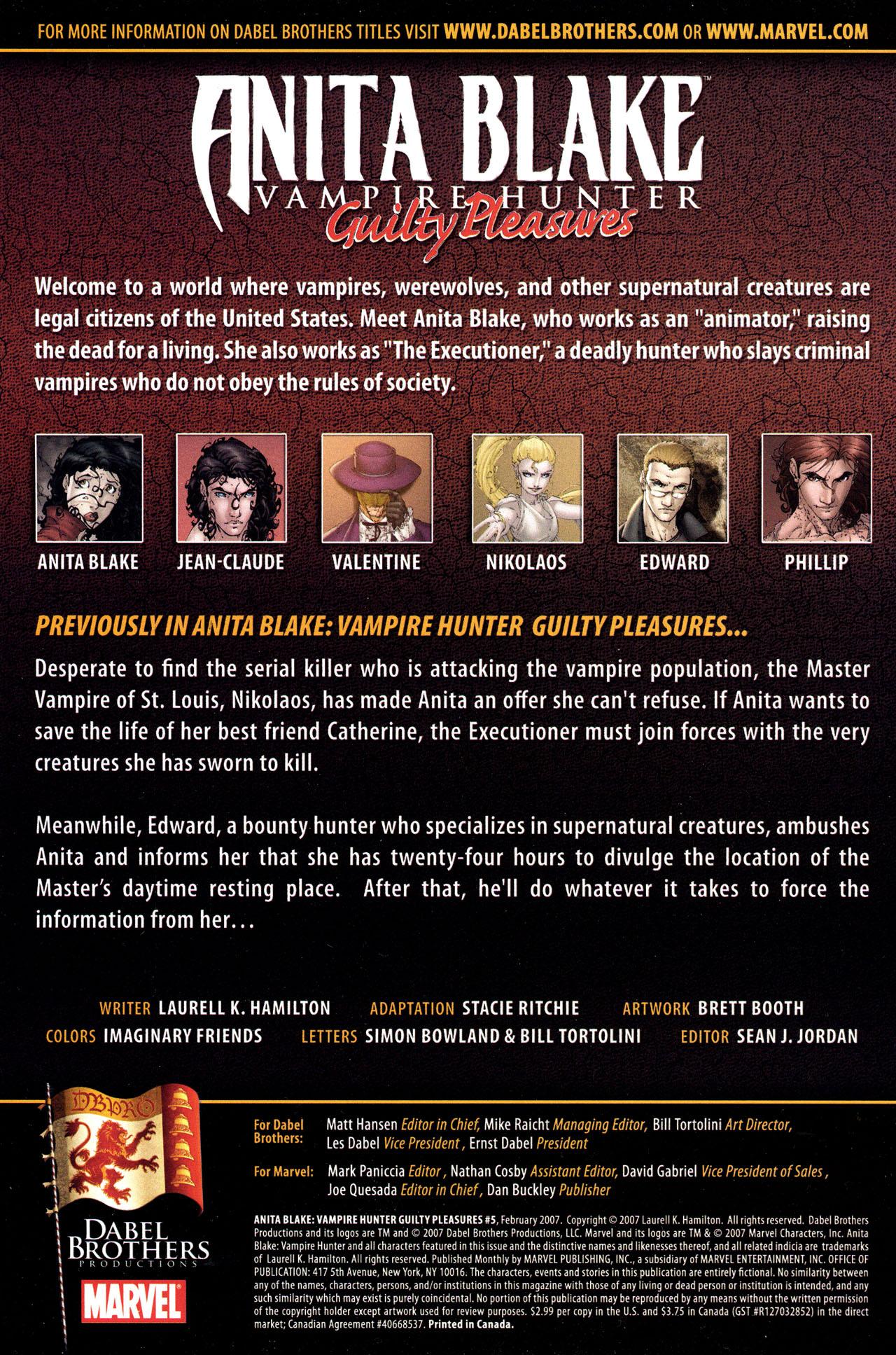 Read online Anita Blake, Vampire Hunter: Guilty Pleasures comic -  Issue #5 - 2