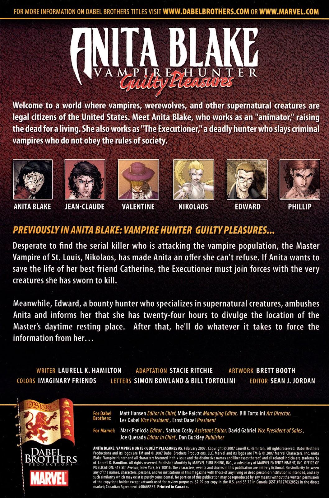 Anita Blake, Vampire Hunter: Guilty Pleasures 5 Page 2