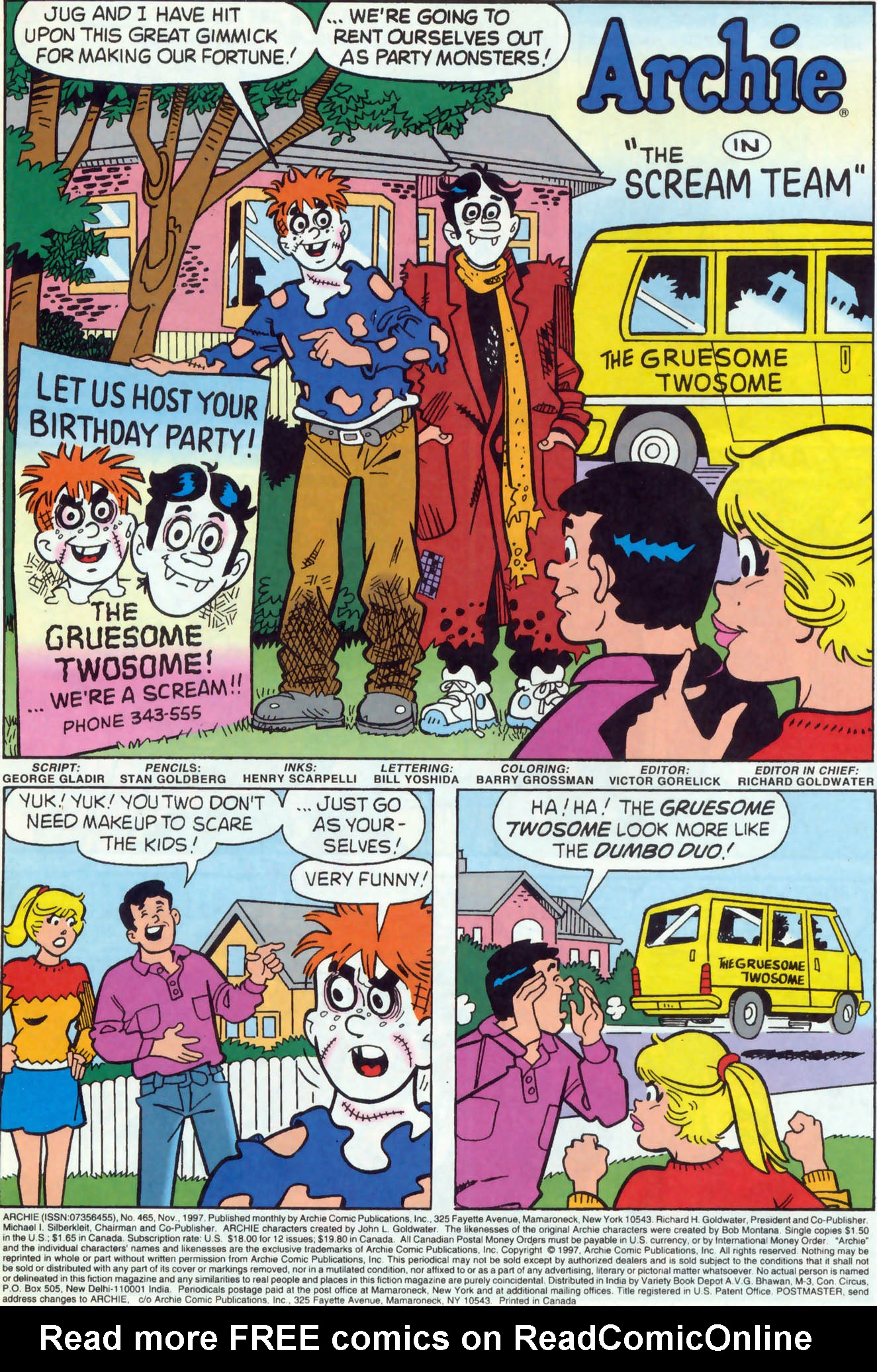 Read online Archie (1960) comic -  Issue #465 - 2