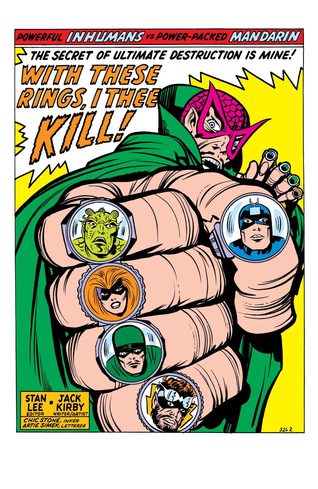 Read online Marvel Masterworks: The Inhumans comic -  Issue # TPB 1 (Part 2) - 3