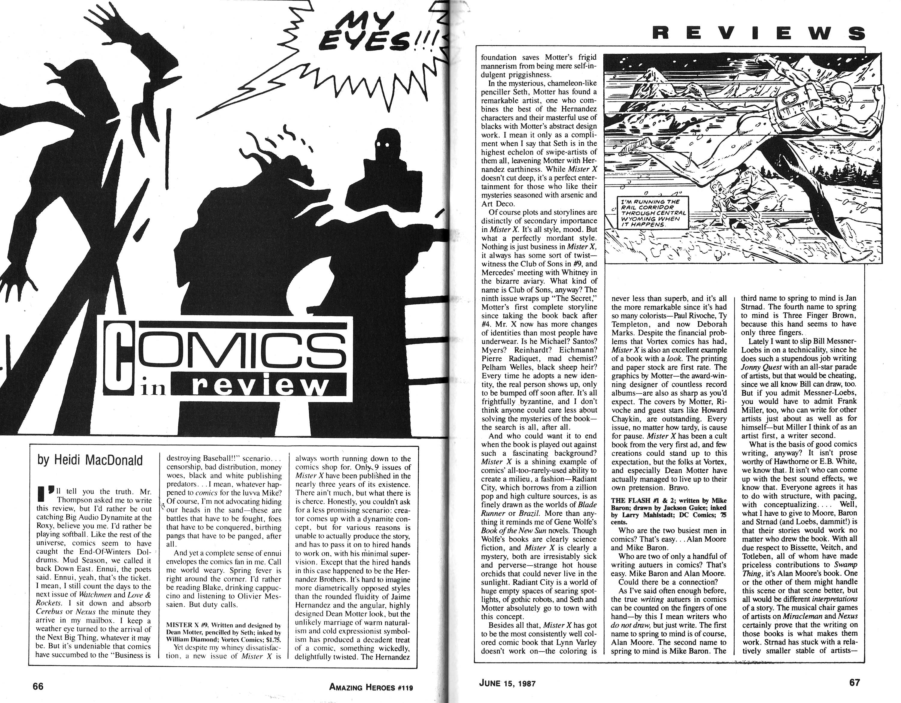Read online Amazing Heroes comic -  Issue #119 - 34