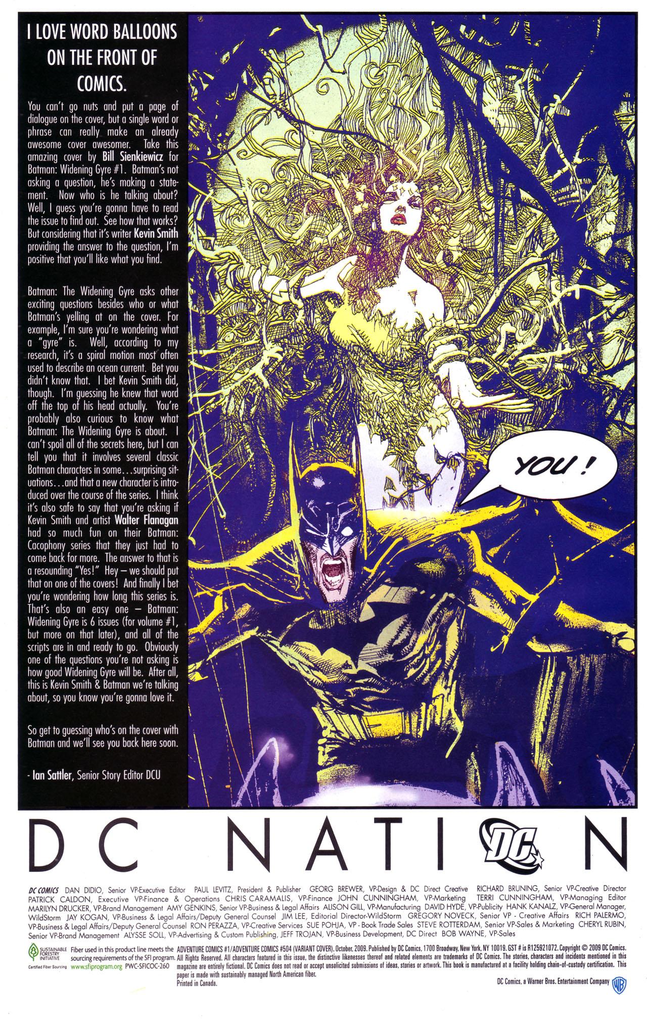 Read online Adventure Comics (2009) comic -  Issue #1 - 30