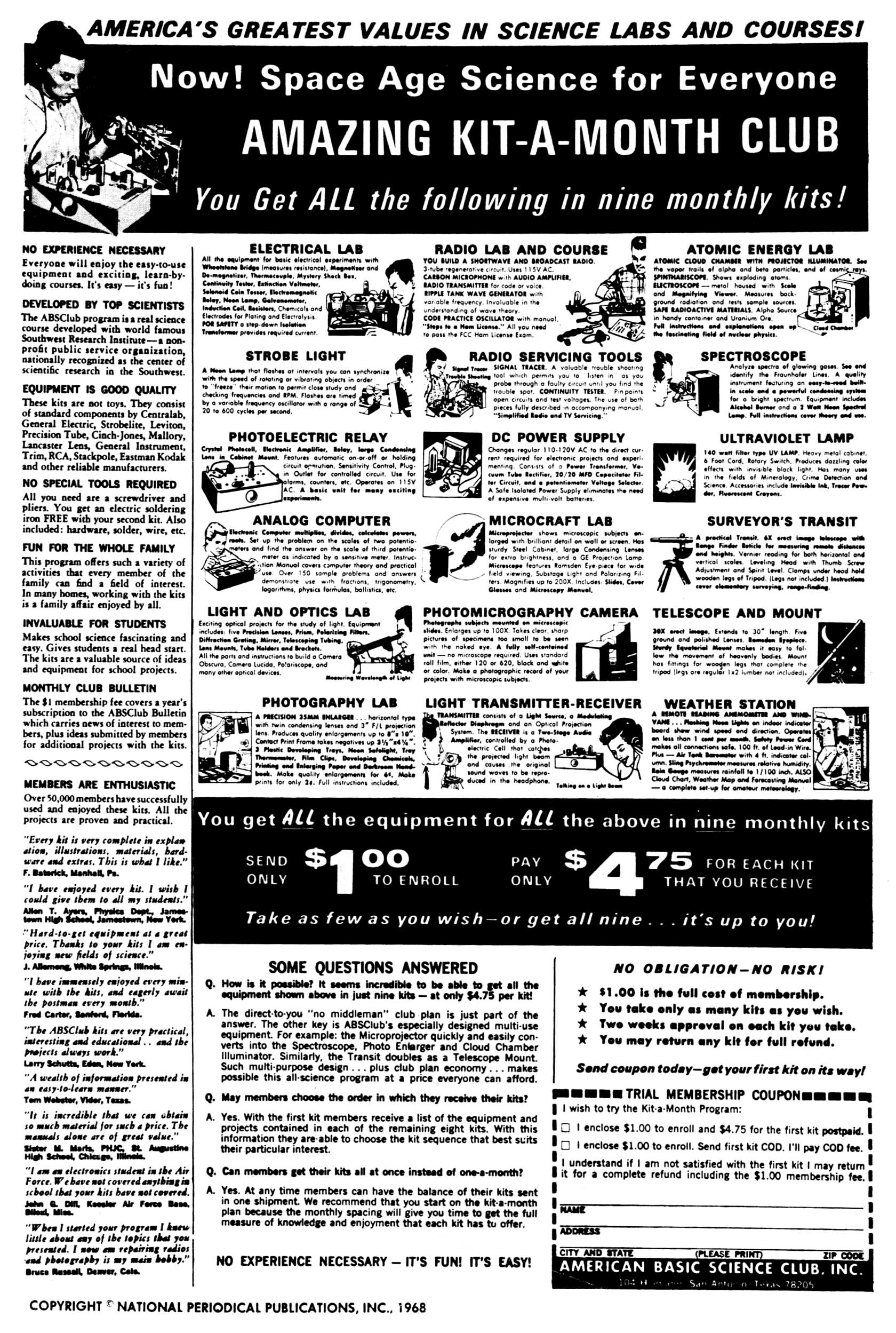 Read online Secret Six (1968) comic -  Issue #1 - 2