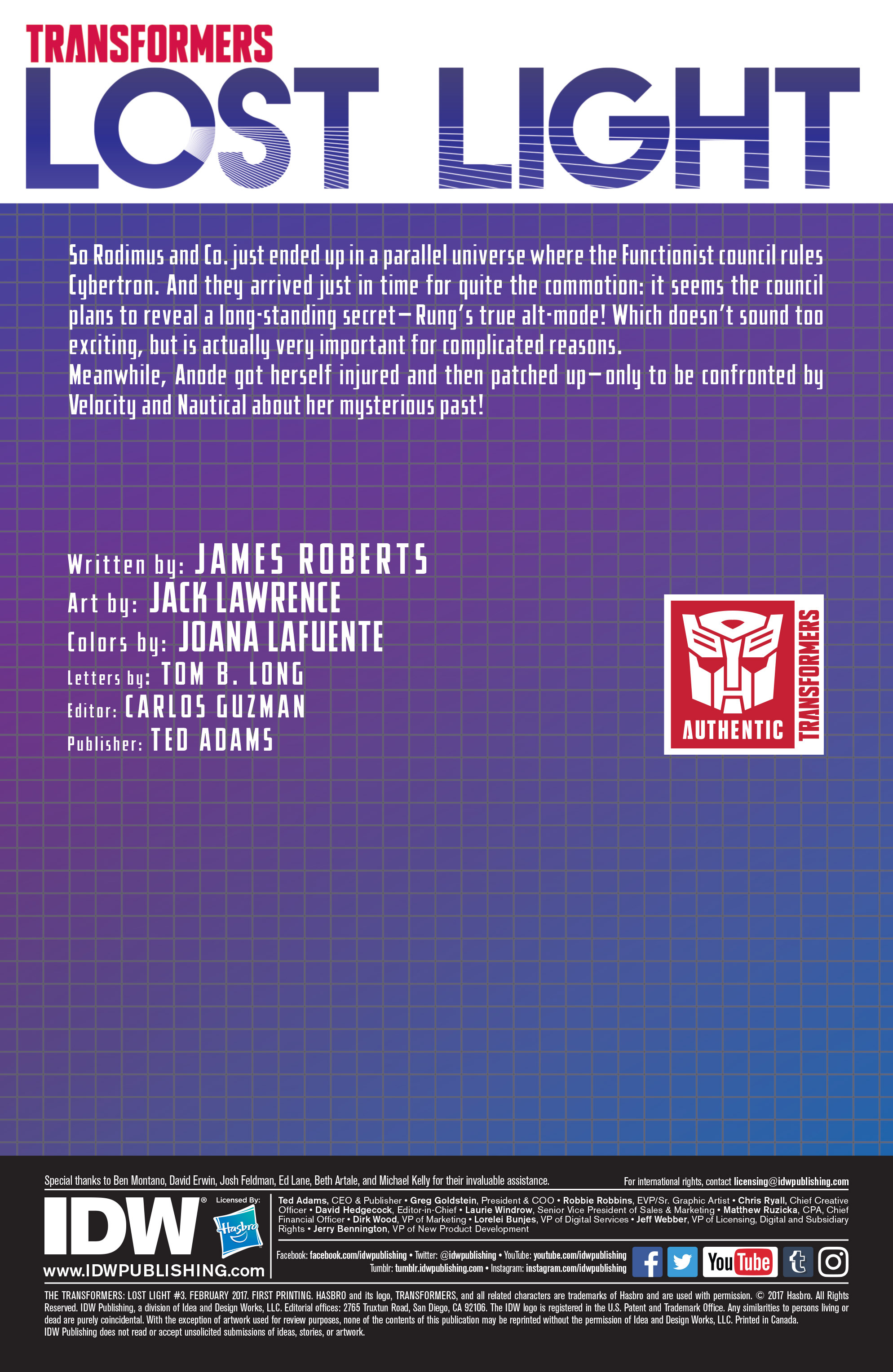 Read online Transformers: Lost Light comic -  Issue #3 - 2