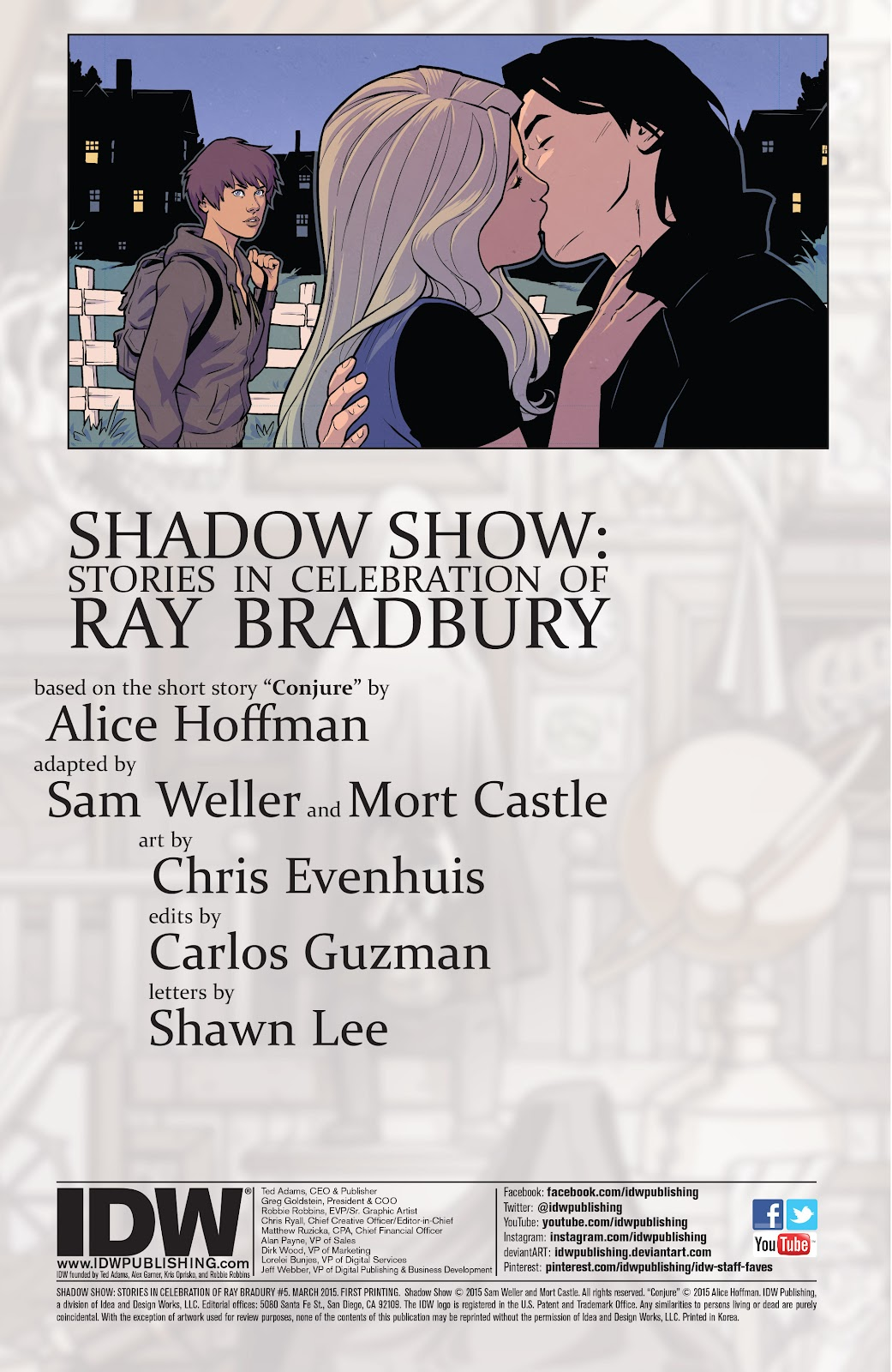 Read online Shadow Show: Stories in Celebration of Ray Bradbury comic -  Issue #5 - 2