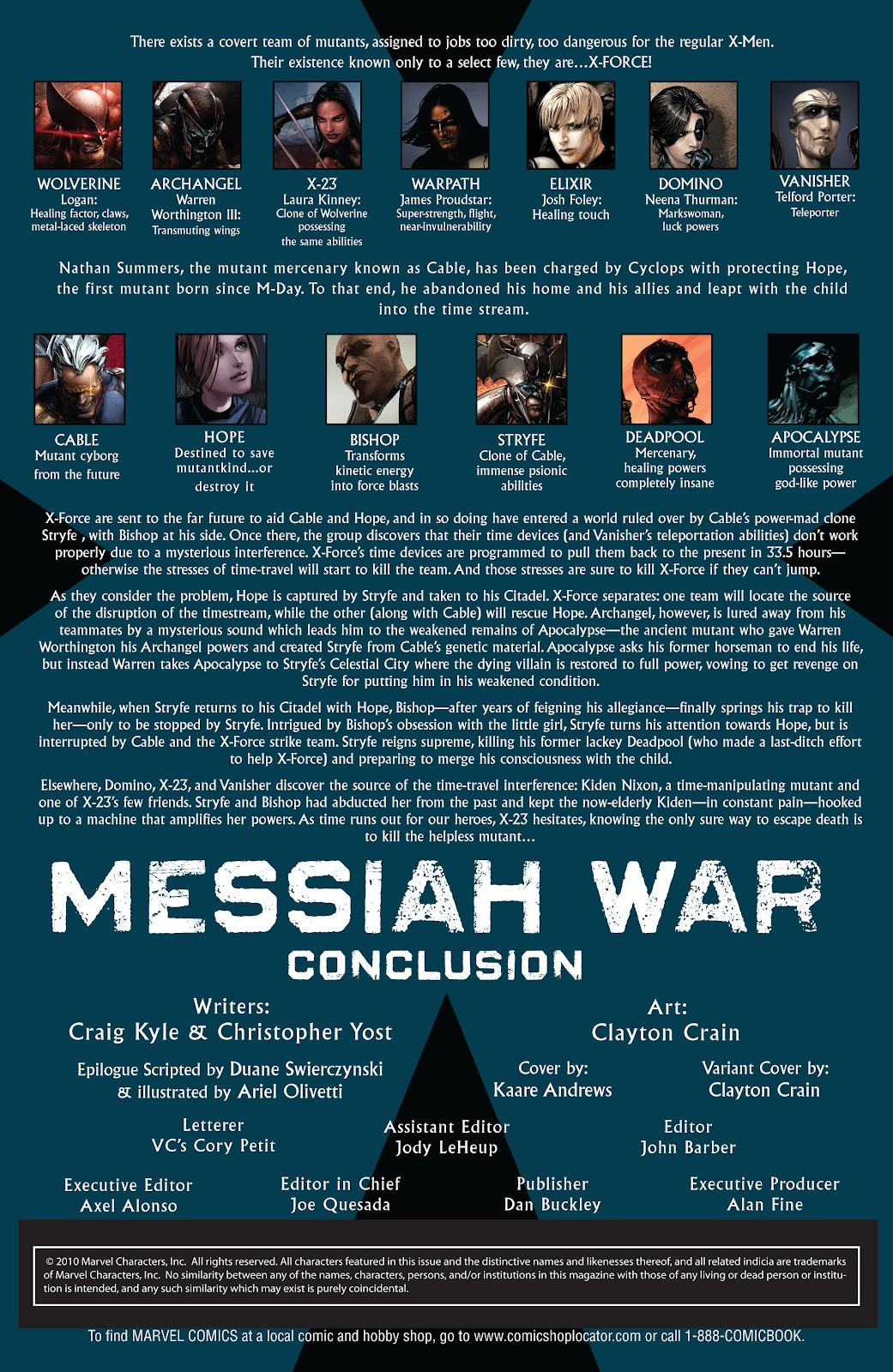 Read online X-Force/Cable: Messiah War comic -  Issue # _TPB (Part 2) - 119