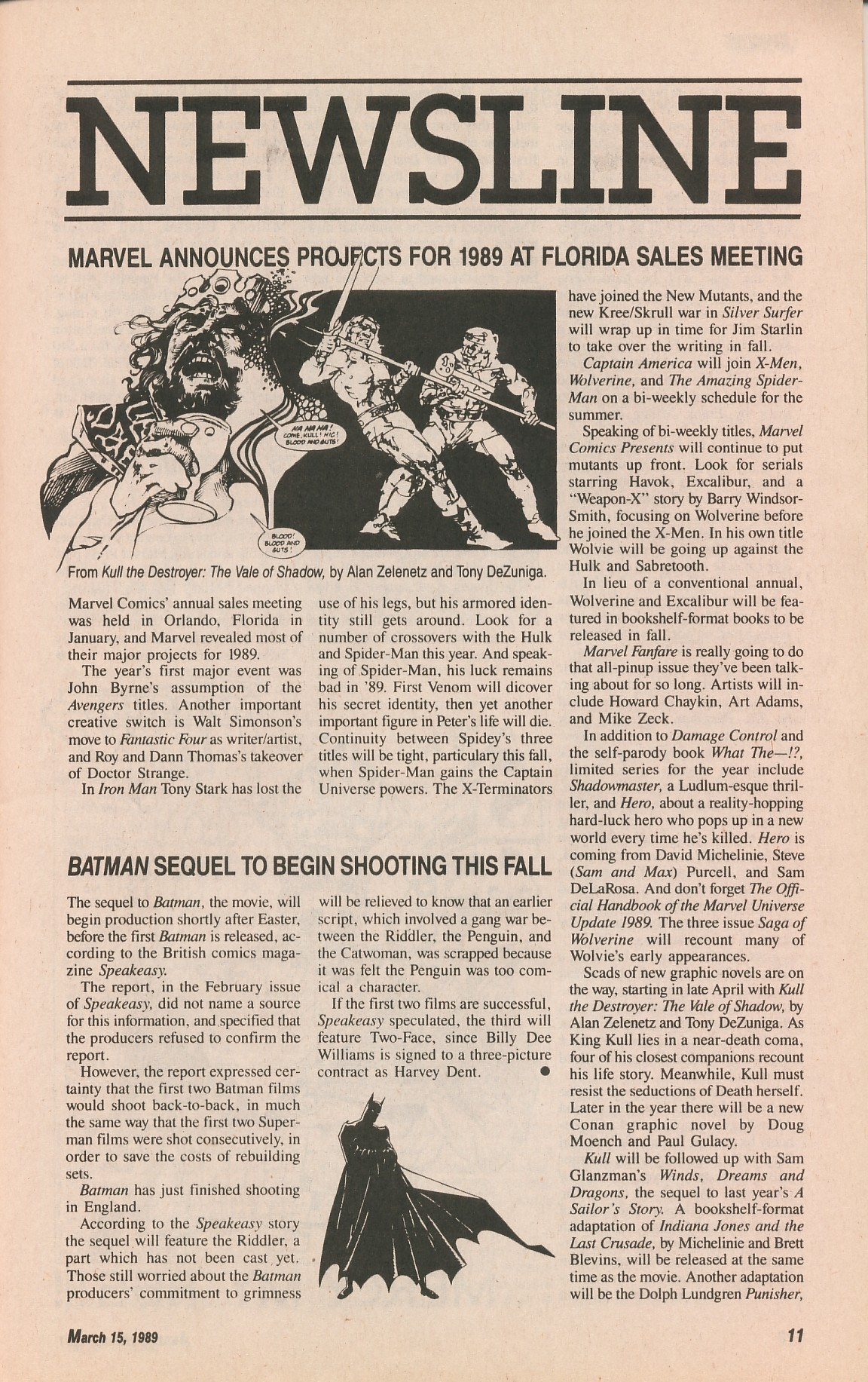 Read online Amazing Heroes comic -  Issue #161 - 11