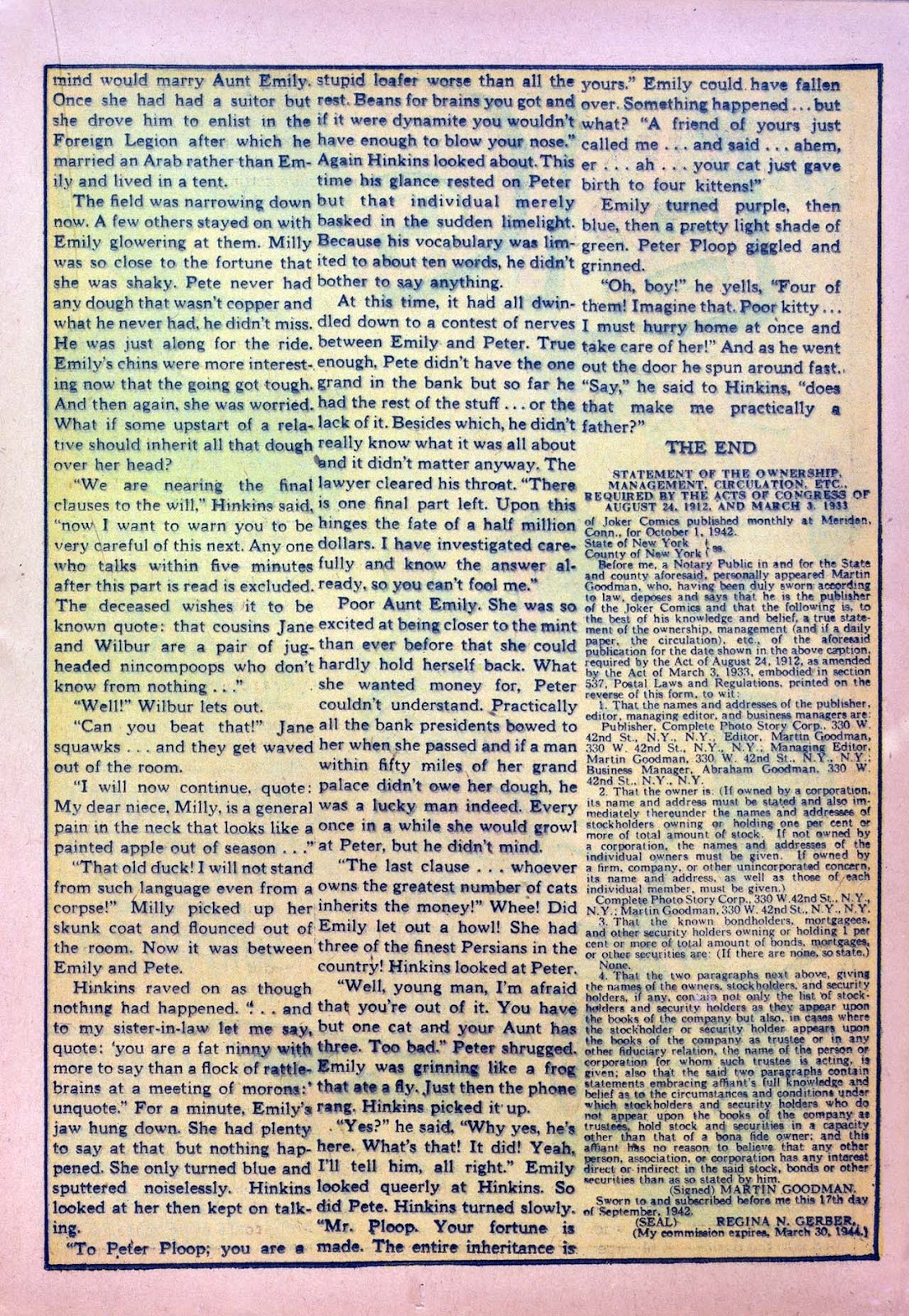 Read online Joker Comics comic -  Issue #7 - 33