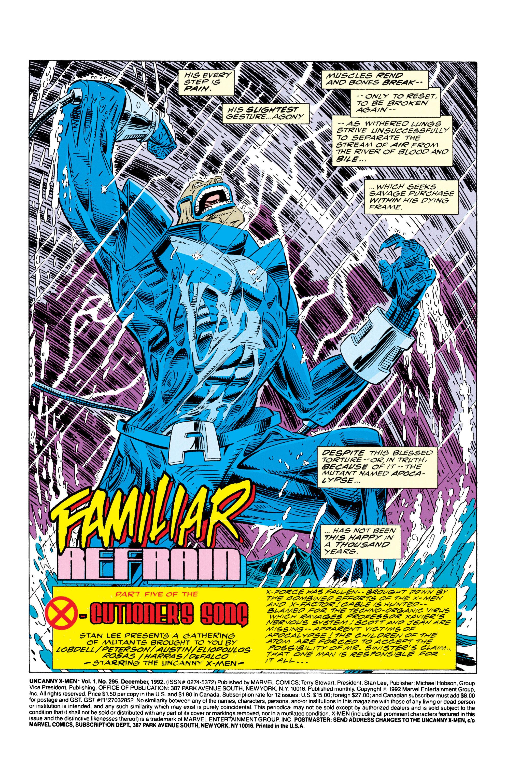 Read online Uncanny X-Men (1963) comic -  Issue #295 - 2