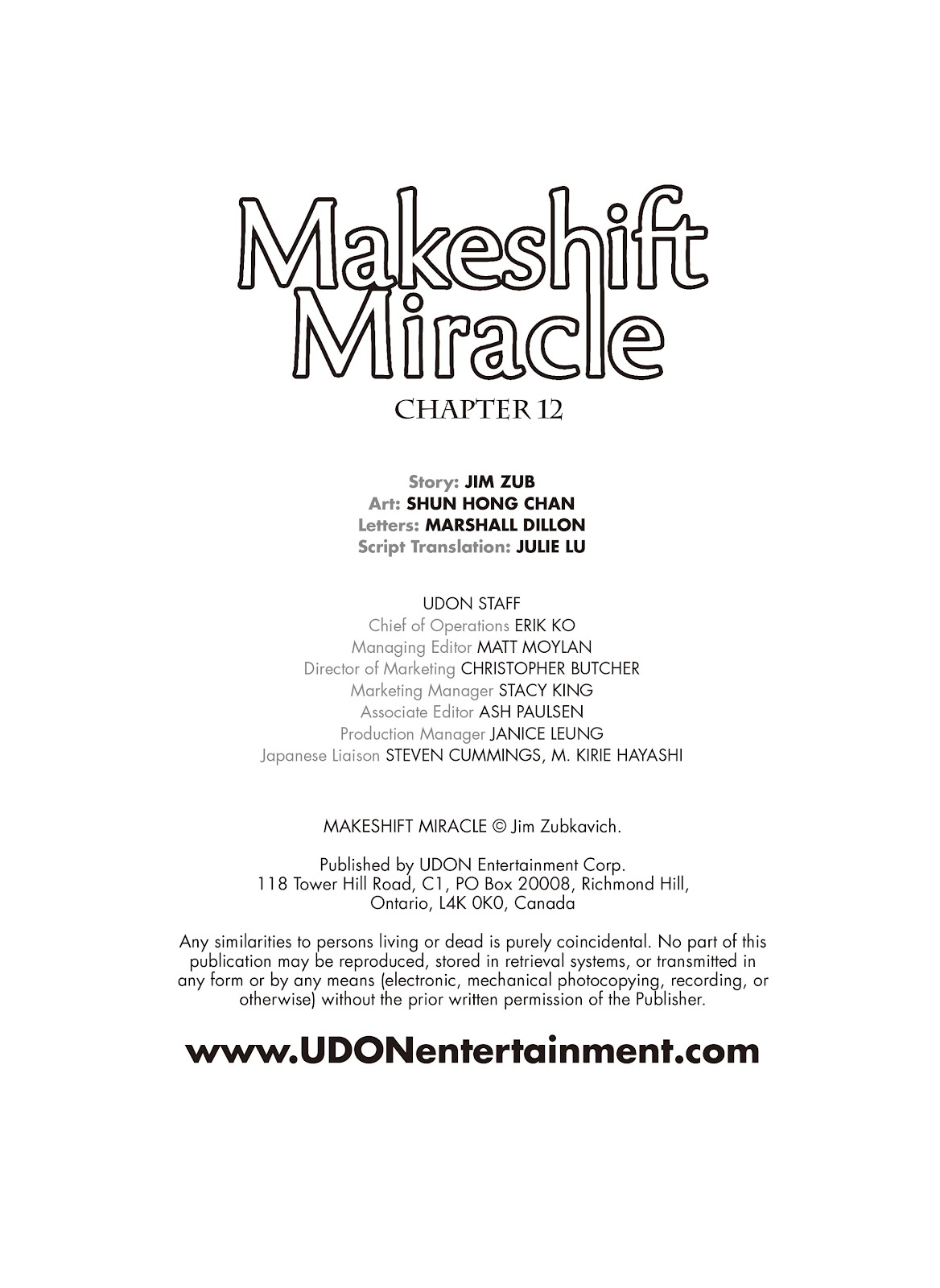 Read online Makeshift Miracle: The Girl From Nowhere comic -  Issue #12 - 2