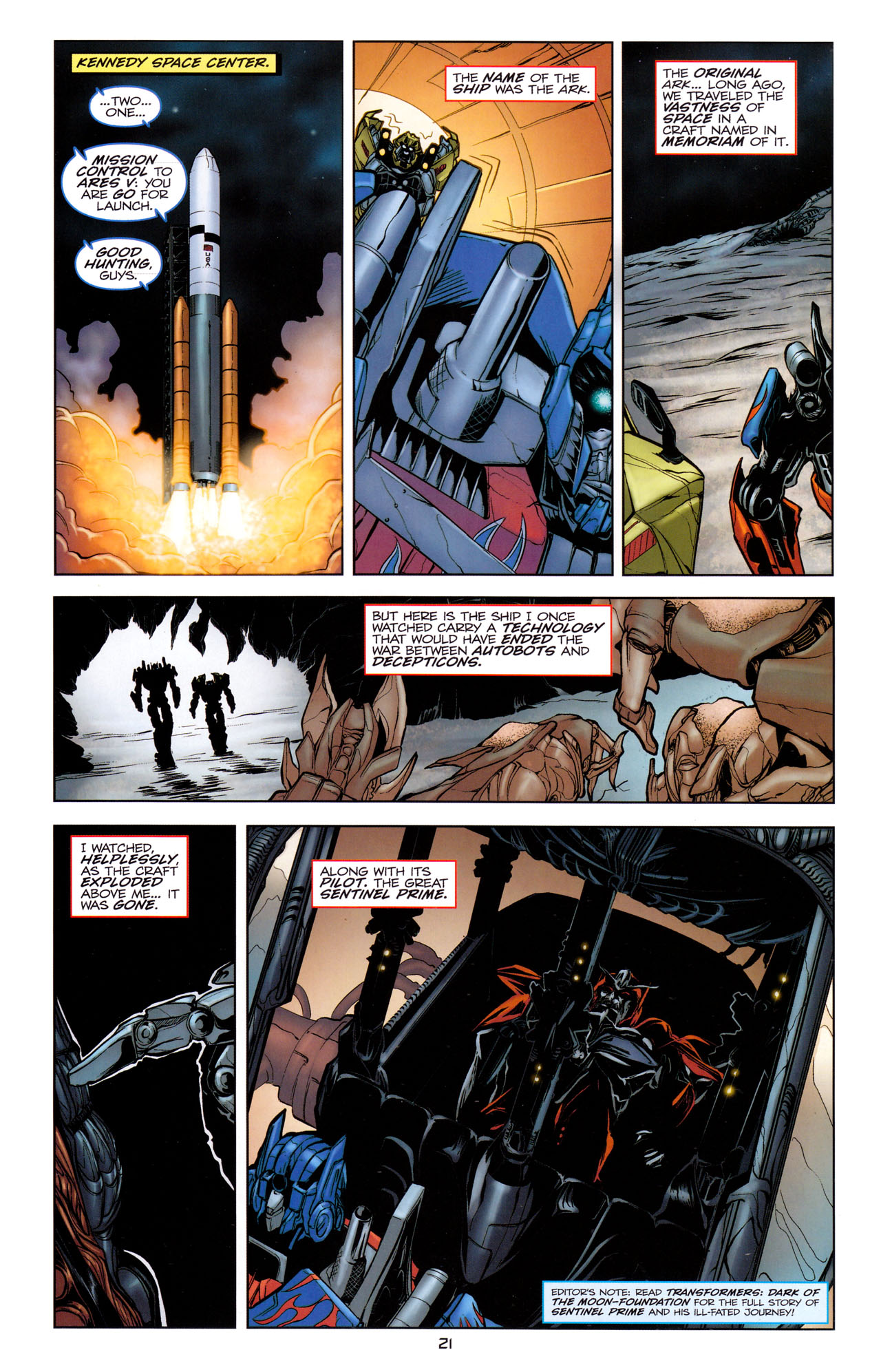 Read online Transformers: Dark of the Moon Movie Adaptation comic -  Issue #1 - 23