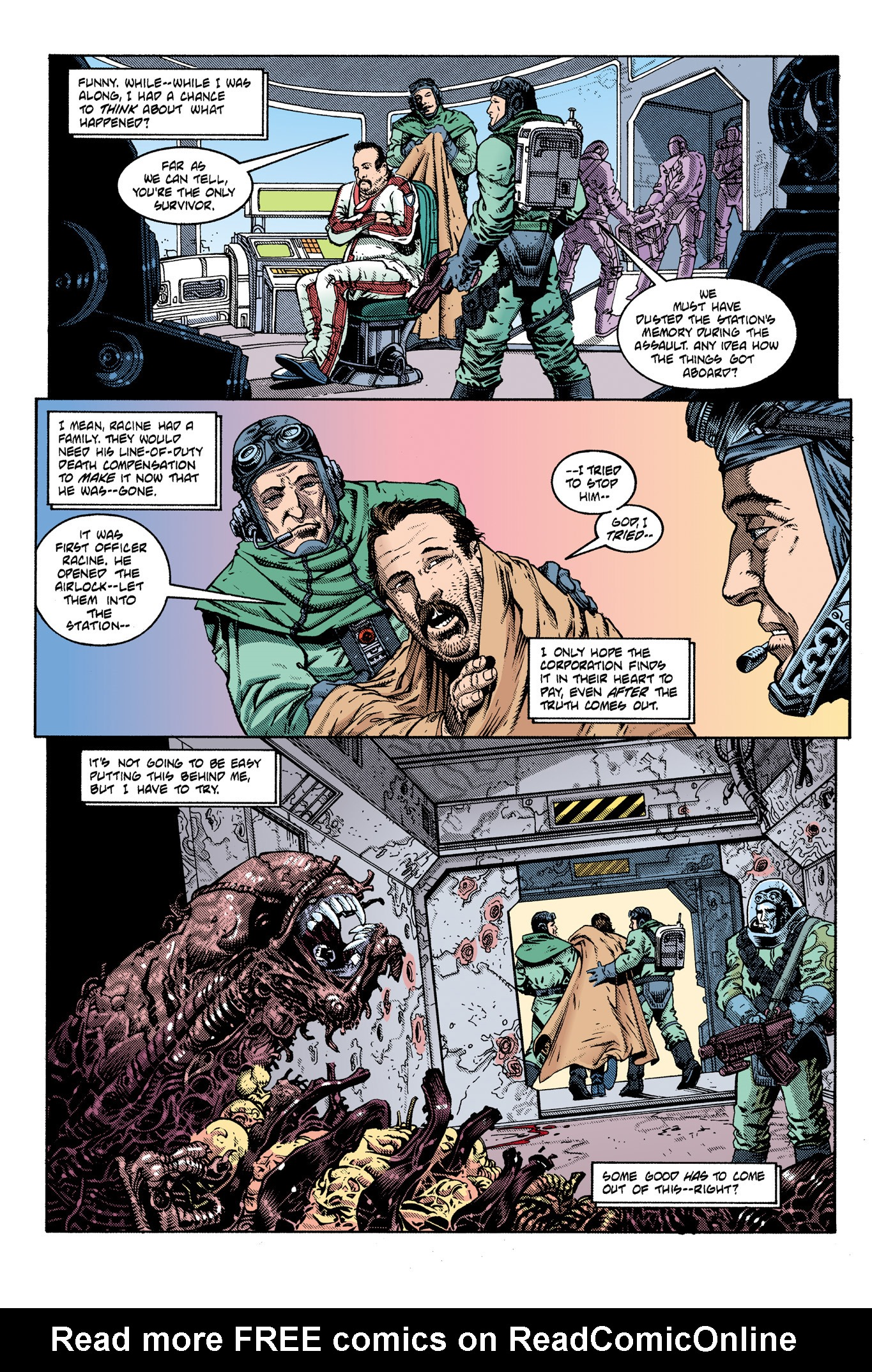 Read online Aliens: Incubation/Lucky/Taste comic -  Issue # Full - 25