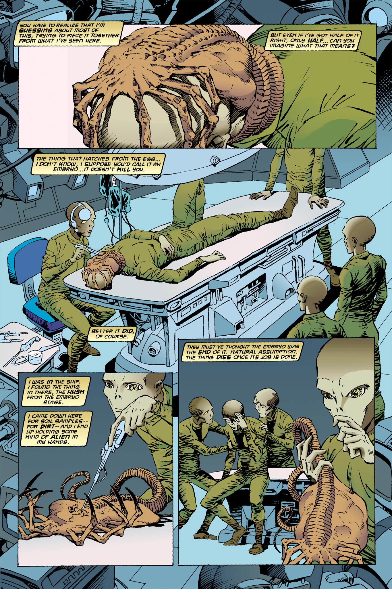 Read online Aliens: Incubation/Lucky/Taste comic -  Issue # Full - 6