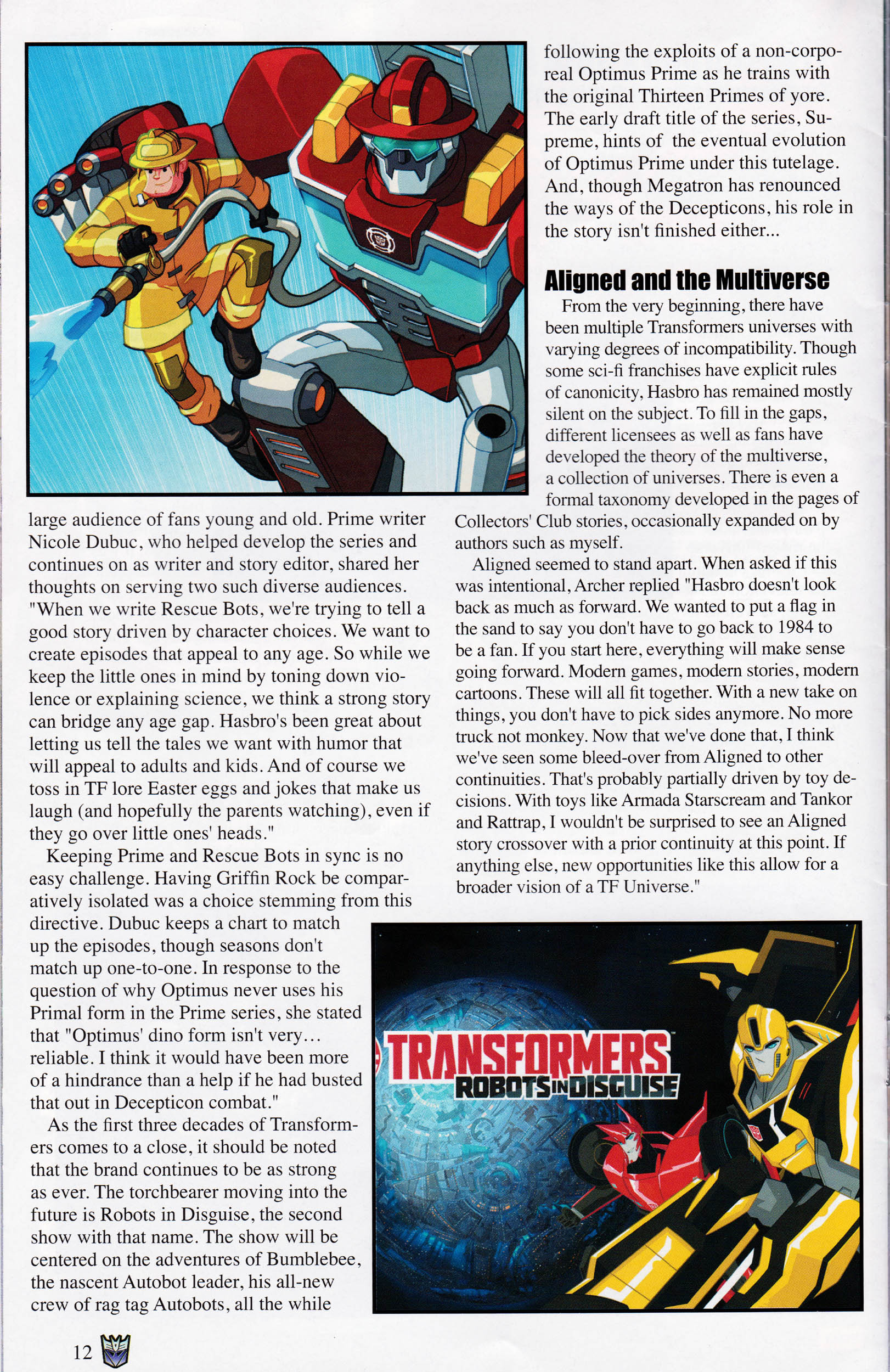 Read online Transformers: Collectors' Club comic -  Issue #60 - 12