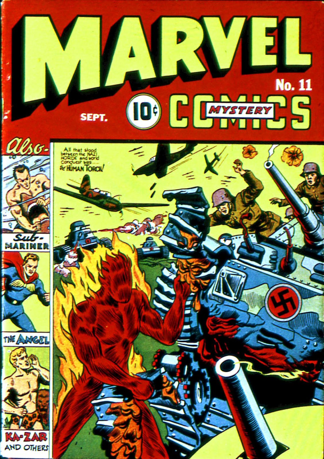 Marvel Mystery Comics 11 Page 1