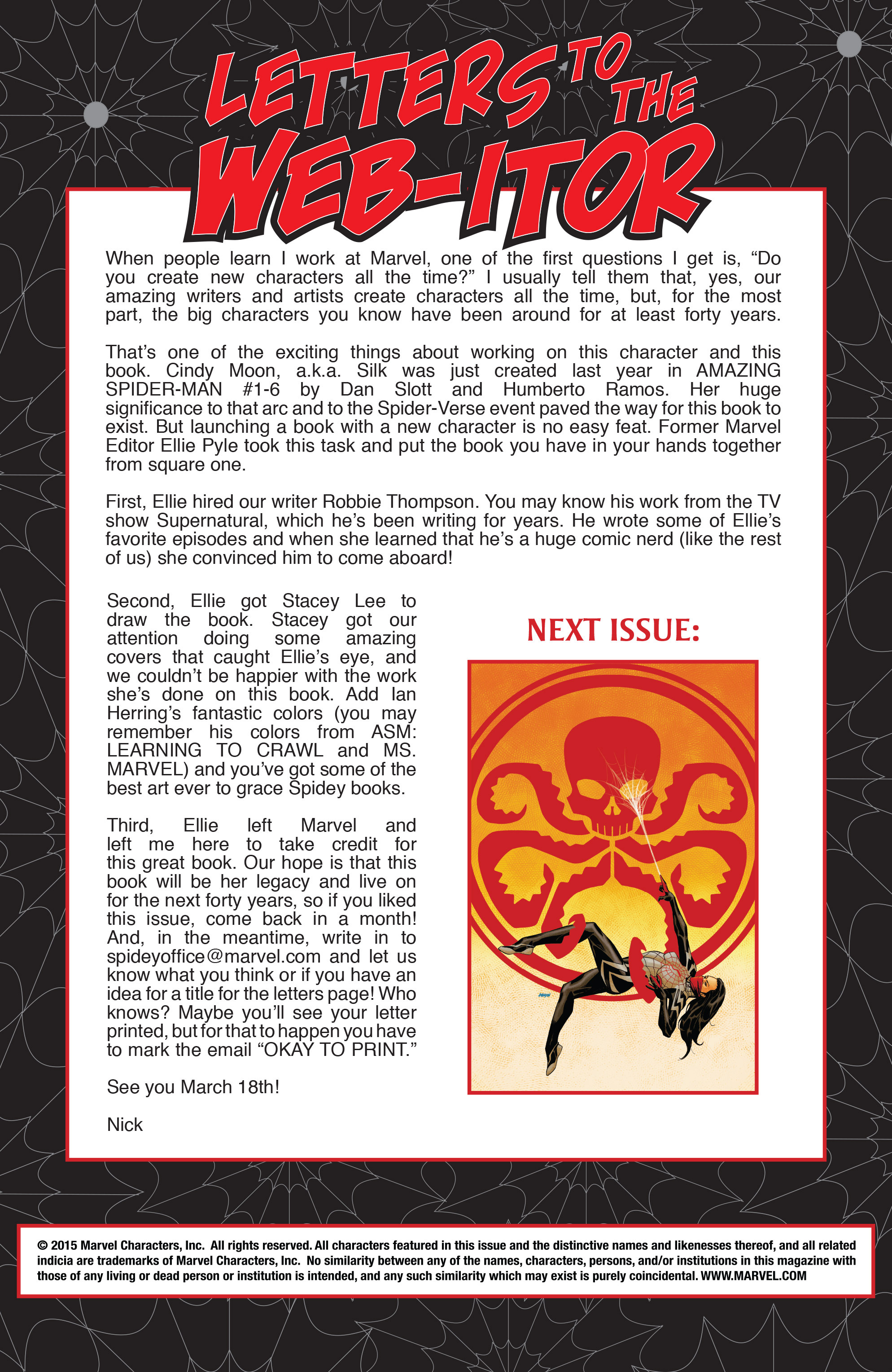 Read online Silk (2015) comic -  Issue #1 - 23
