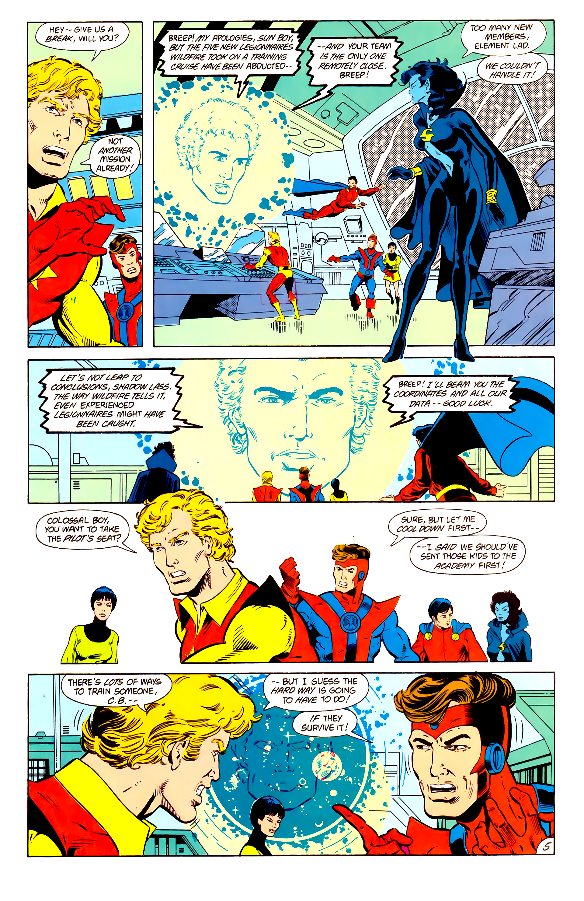 Legion of Super-Heroes (1984) 15 Page 6