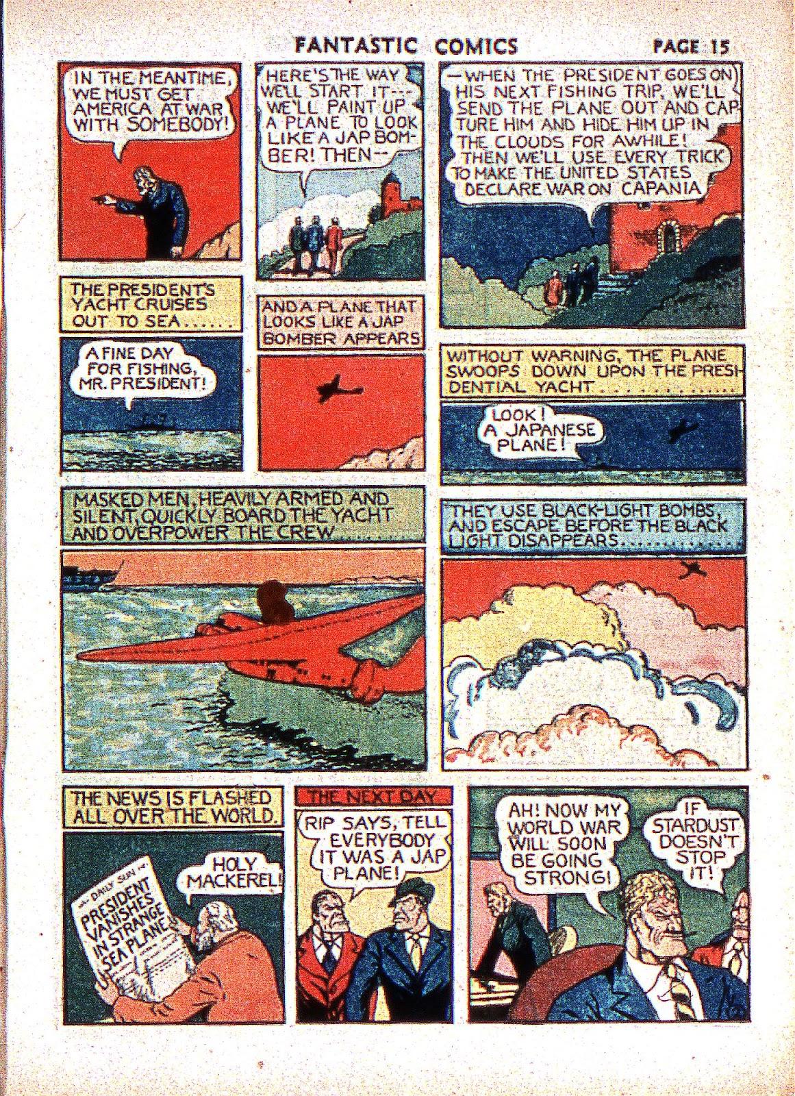 Read online Fantastic Comics comic -  Issue #2 - 17