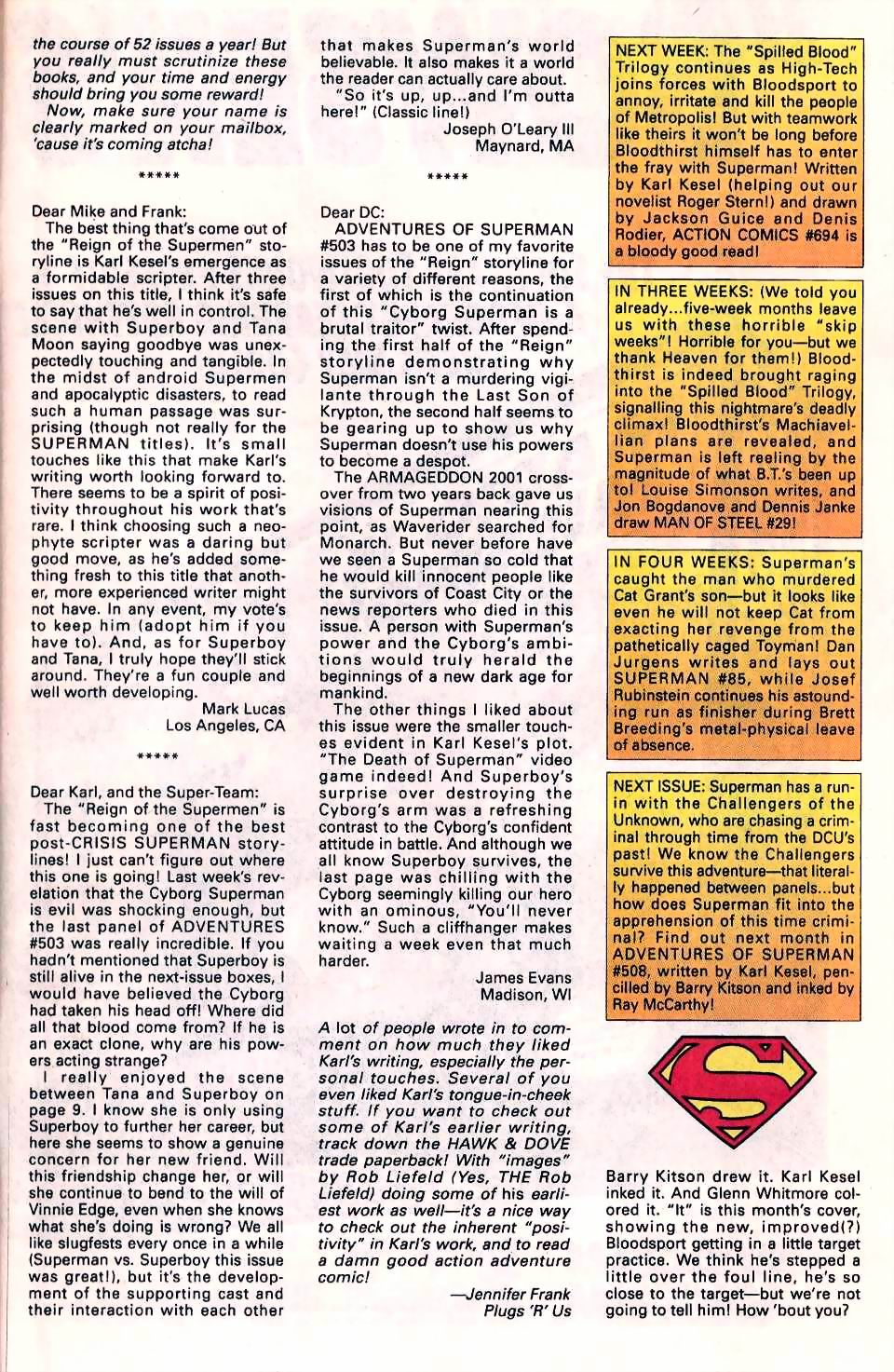 Read online Adventures of Superman (1987) comic -  Issue #507 - 25