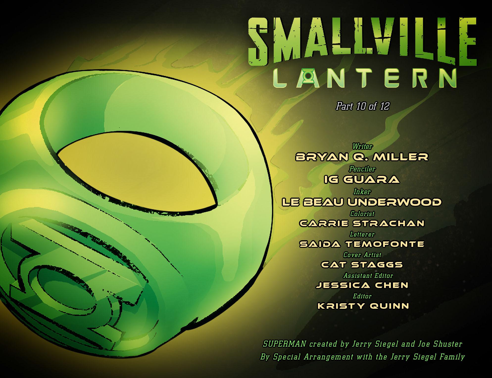 Read online Smallville: Lantern [I] comic -  Issue #10 - 2
