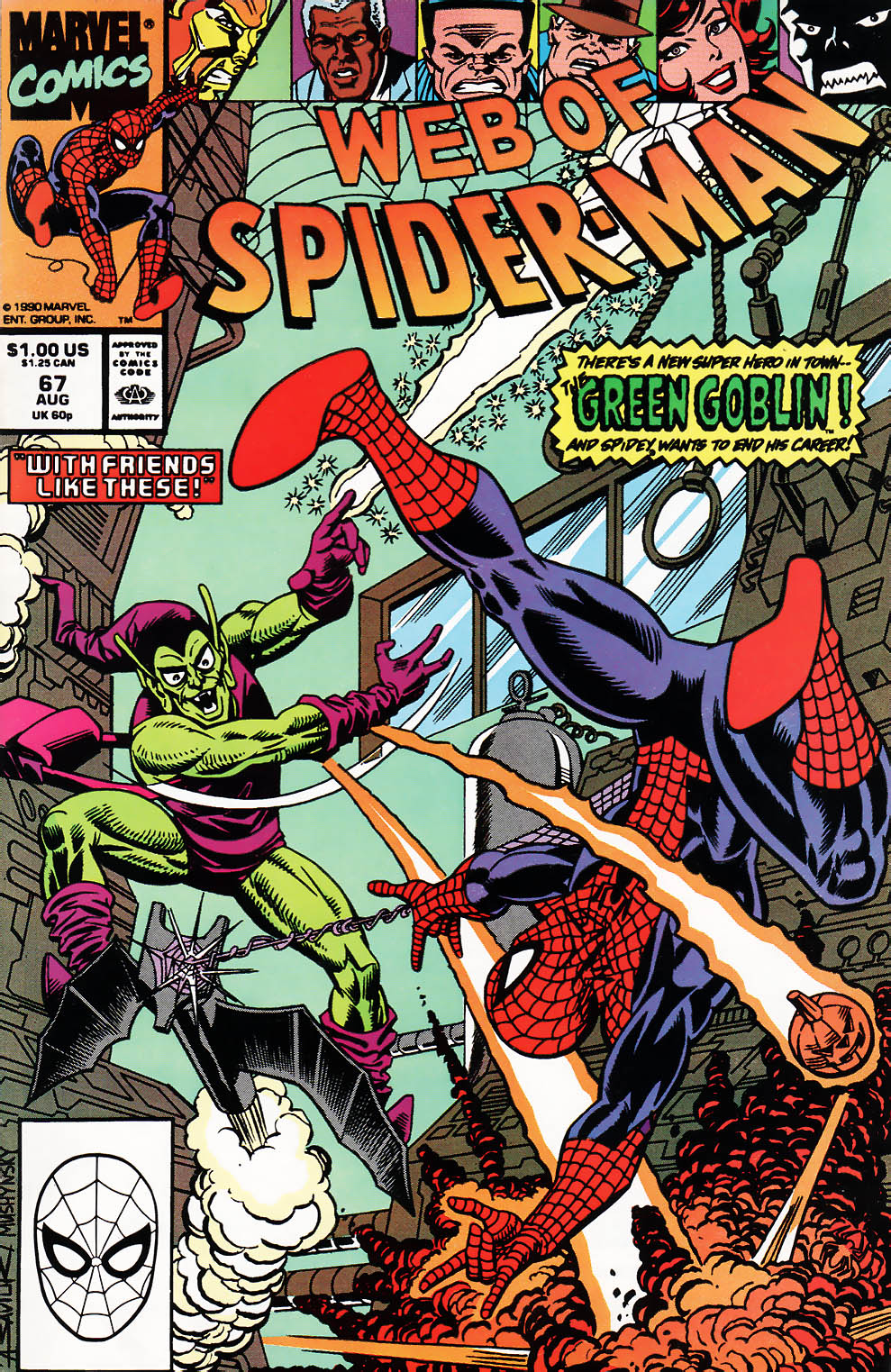 Web of Spider-Man (1985) 67 Page 1