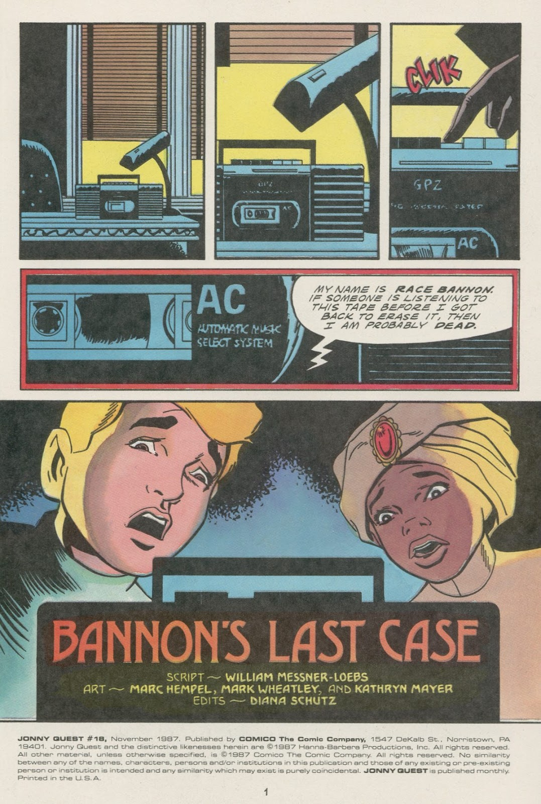Jonny Quest (1986) issue 18 - Page 3