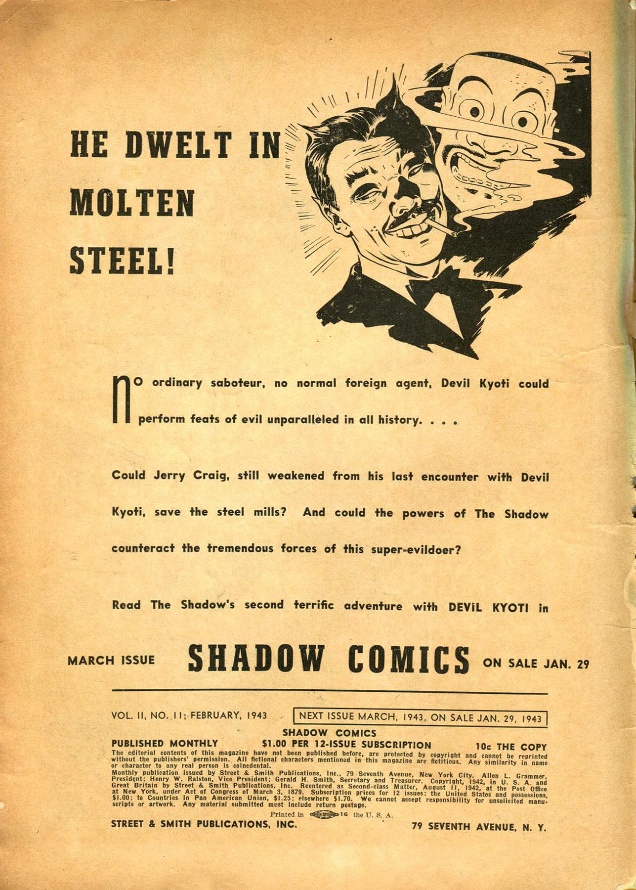 Read online Shadow Comics comic -  Issue #23 - 2