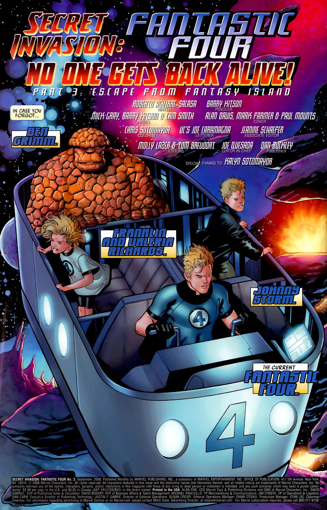 Read online Secret Invasion: Fantastic Four comic -  Issue #3 - 3