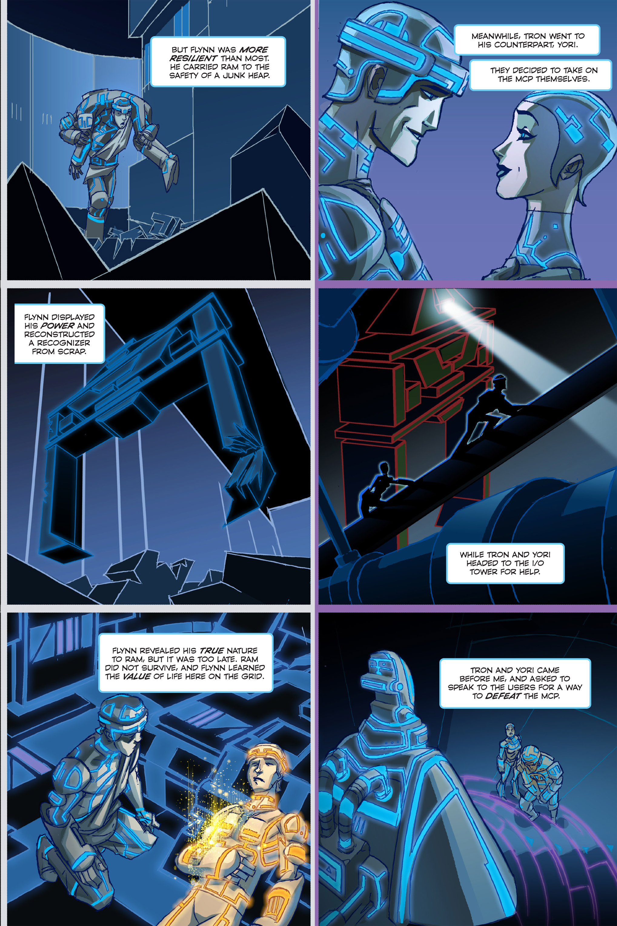 Read online TRON: Betrayal comic -  Issue # TPB - 8