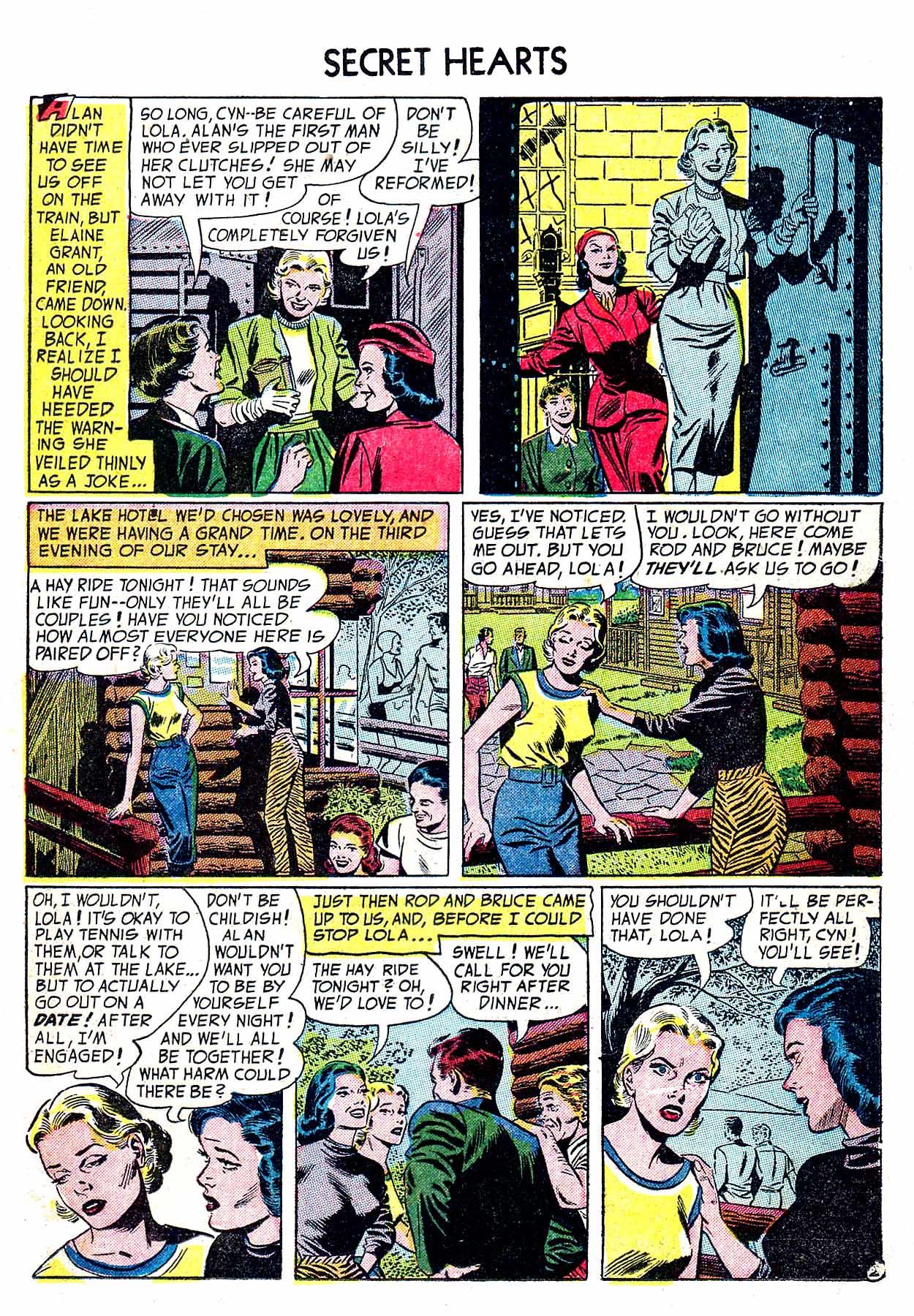Read online Secret Hearts comic -  Issue #19 - 19