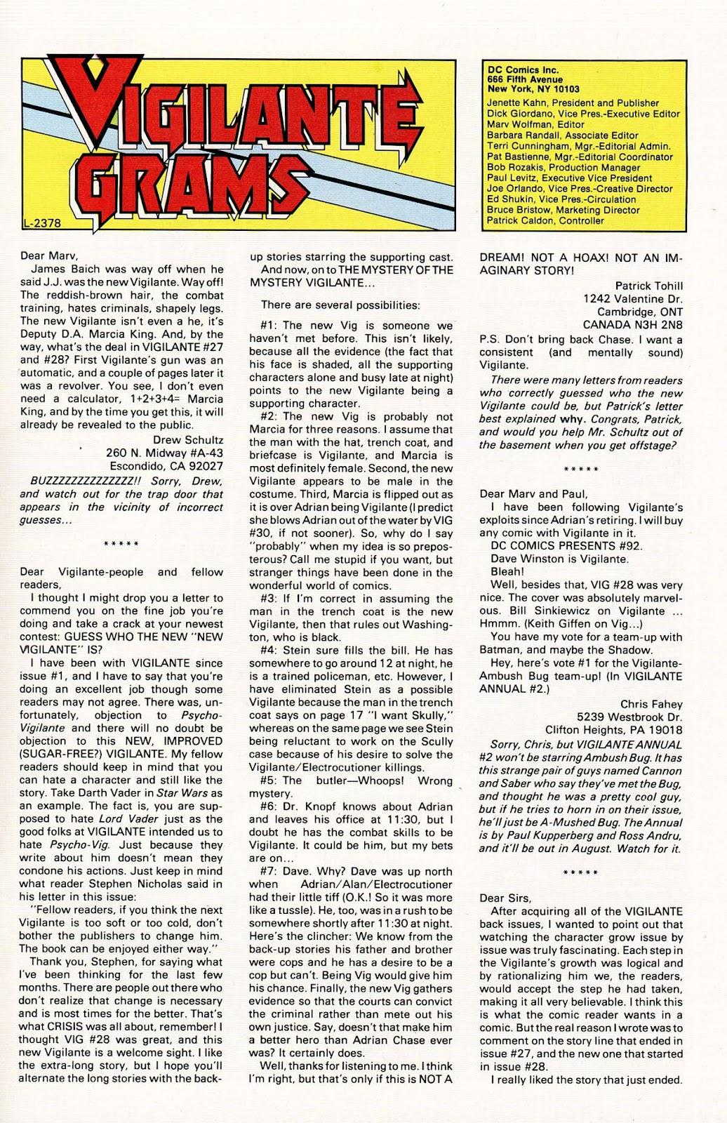 Vigilante (1983) issue 32 - Page 33