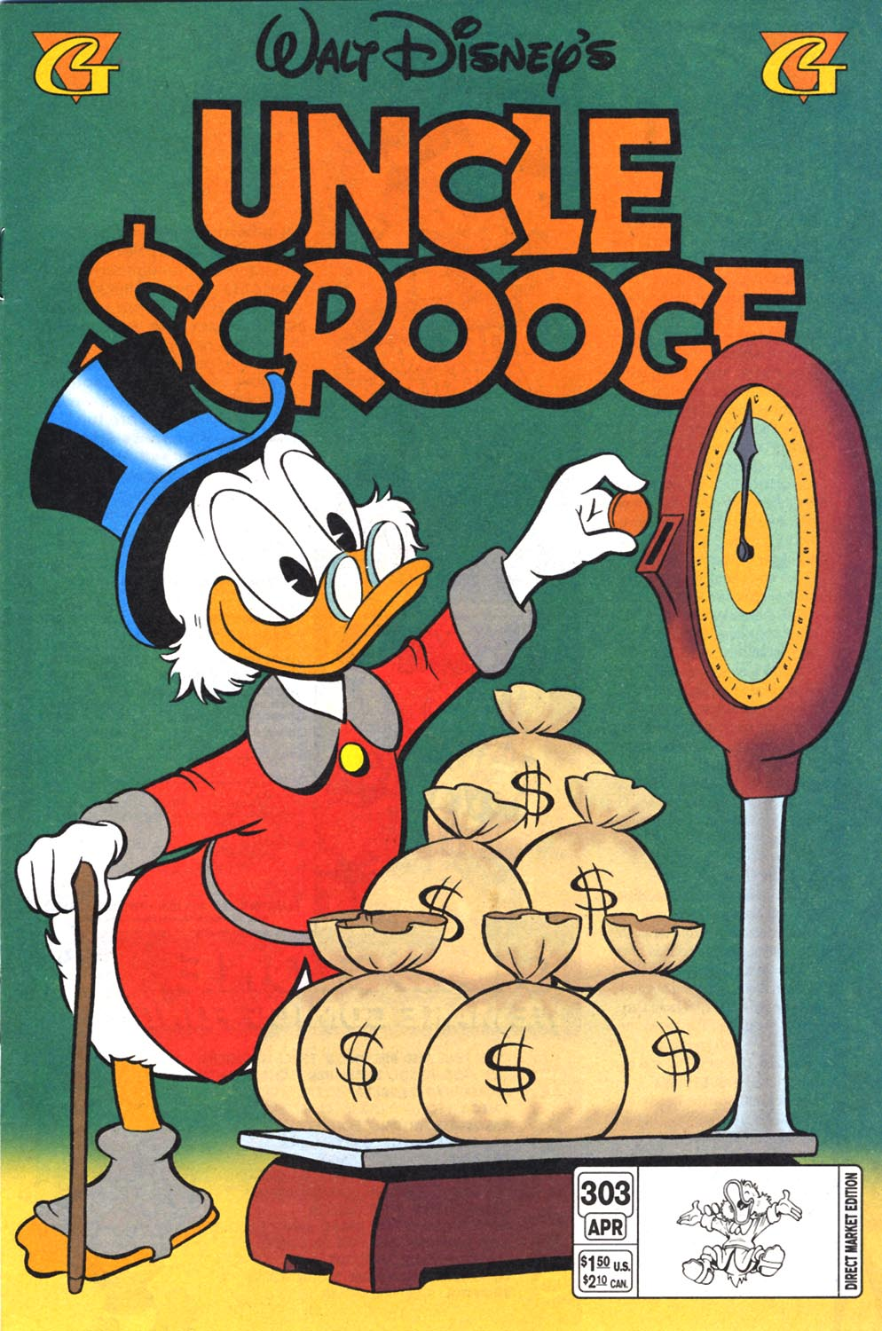 Read online Uncle Scrooge (1953) comic -  Issue #303 - 1