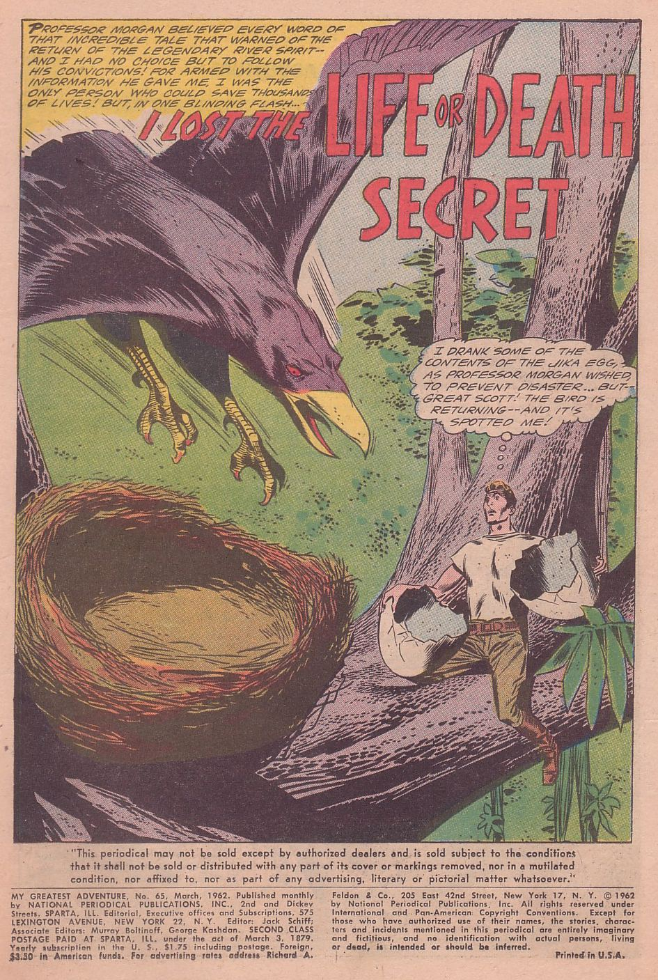 My Greatest Adventure (1955) issue 65 - Page 3