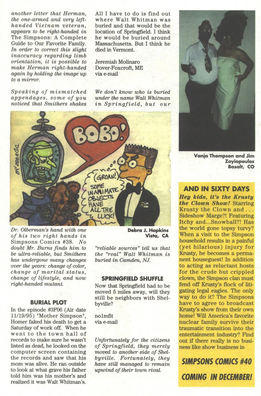 Read online Simpsons Comics comic -  Issue #39 - 27