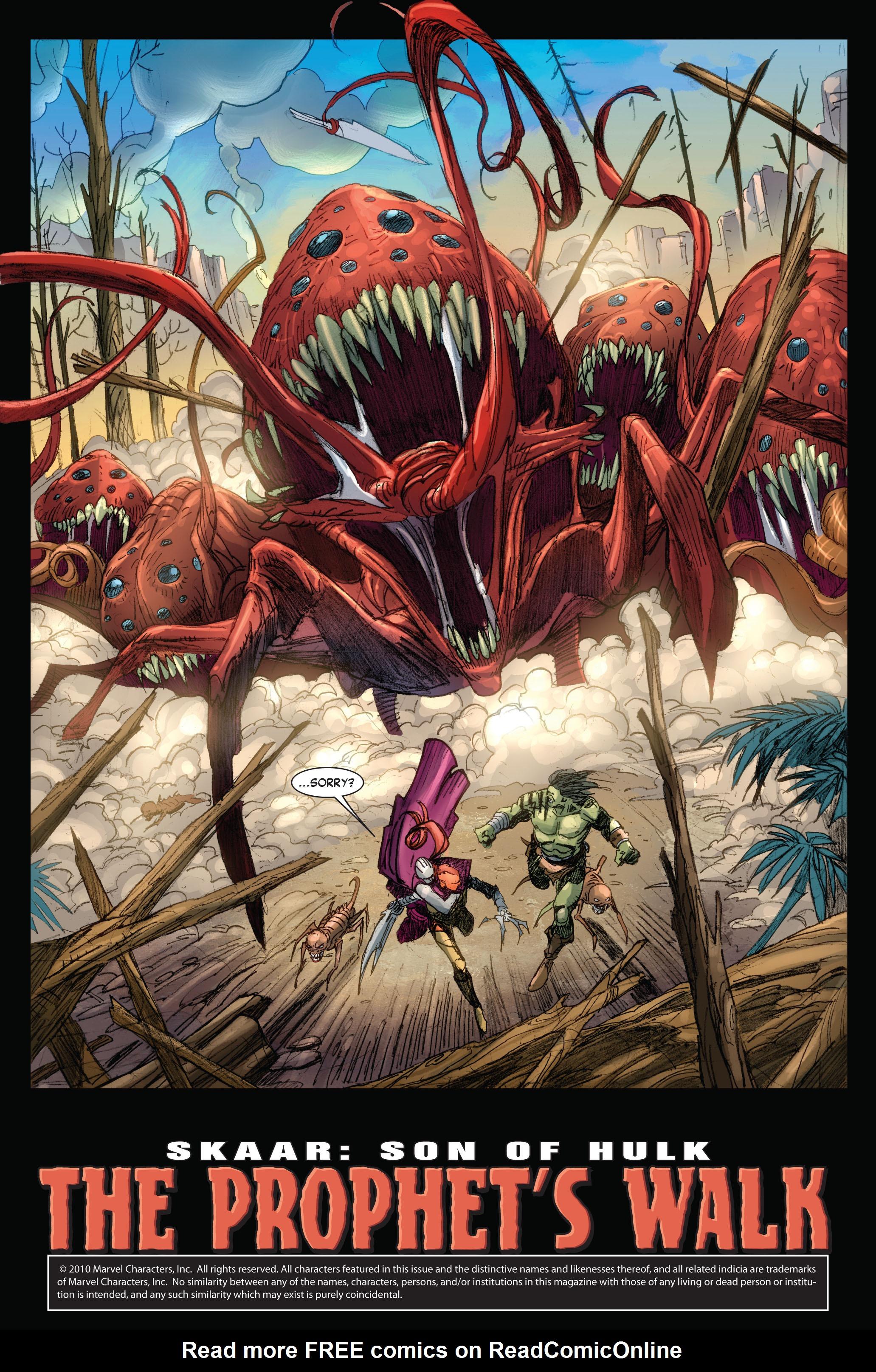 Read online Skaar: Son of Hulk comic -  Issue #4 - 6