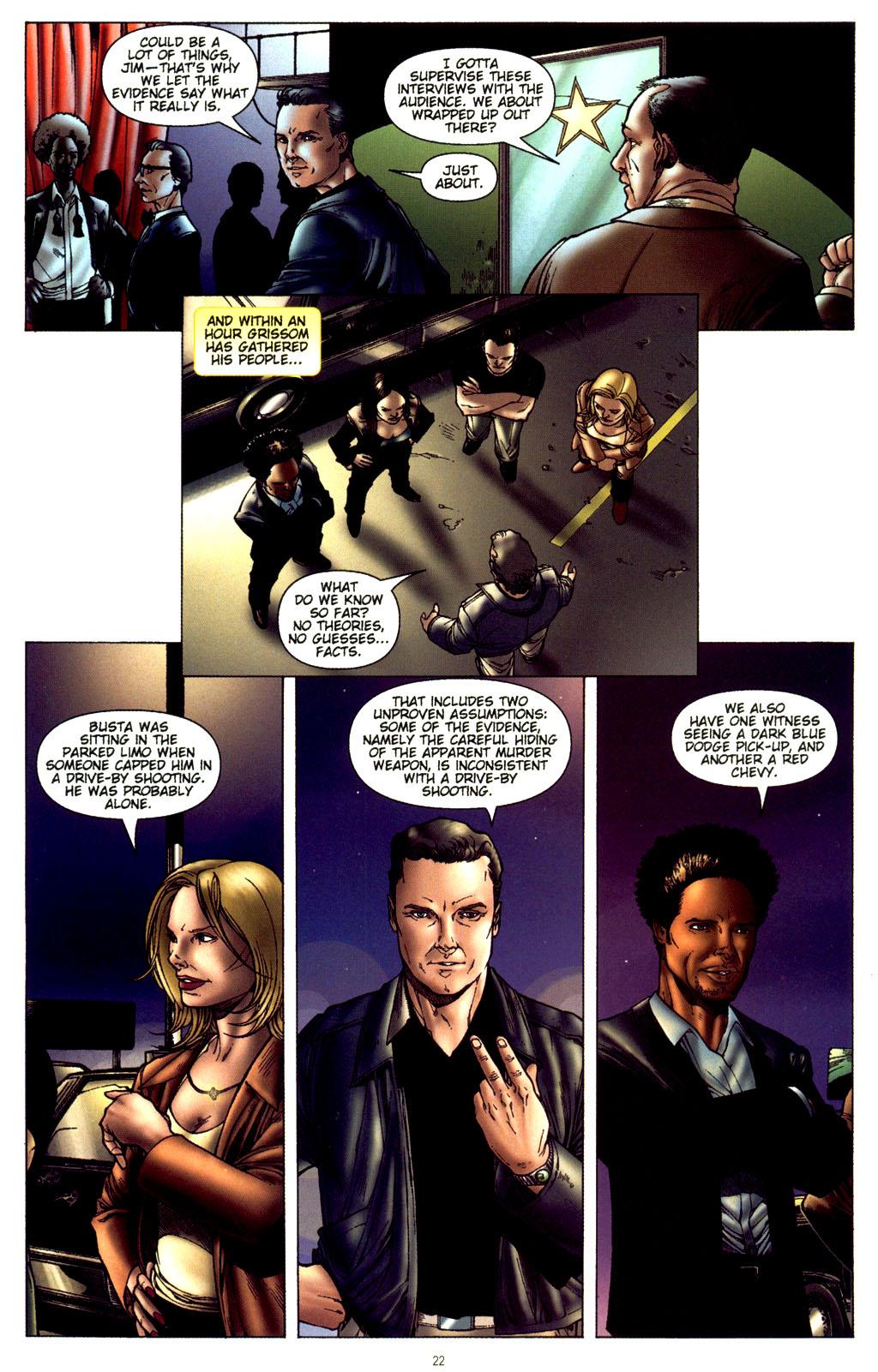 Read online CSI: Crime Scene Investigation: Bad Rap comic -  Issue #2 - 23