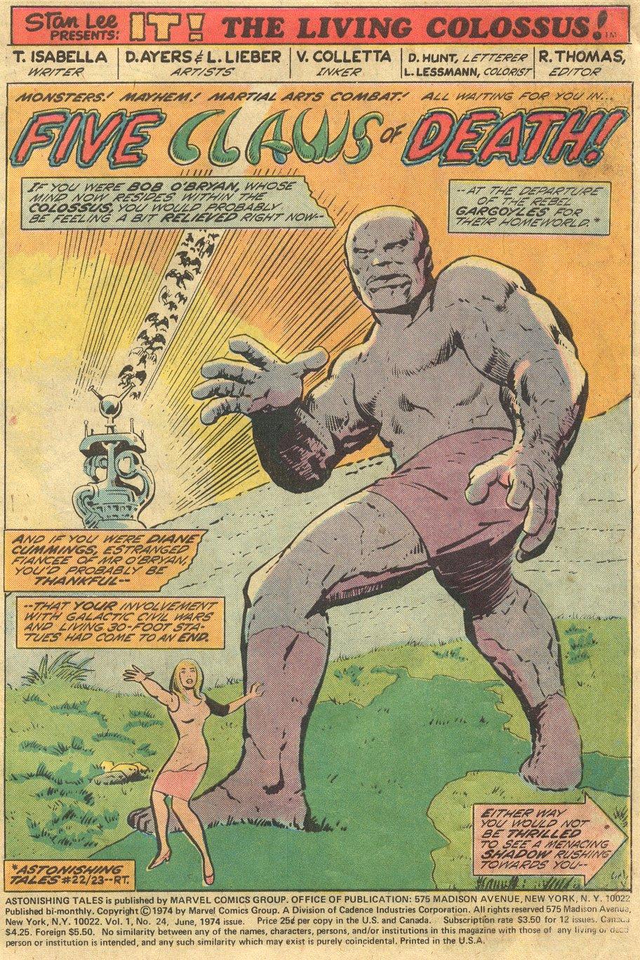 Read online Astonishing Tales (1970) comic -  Issue #24 - 2