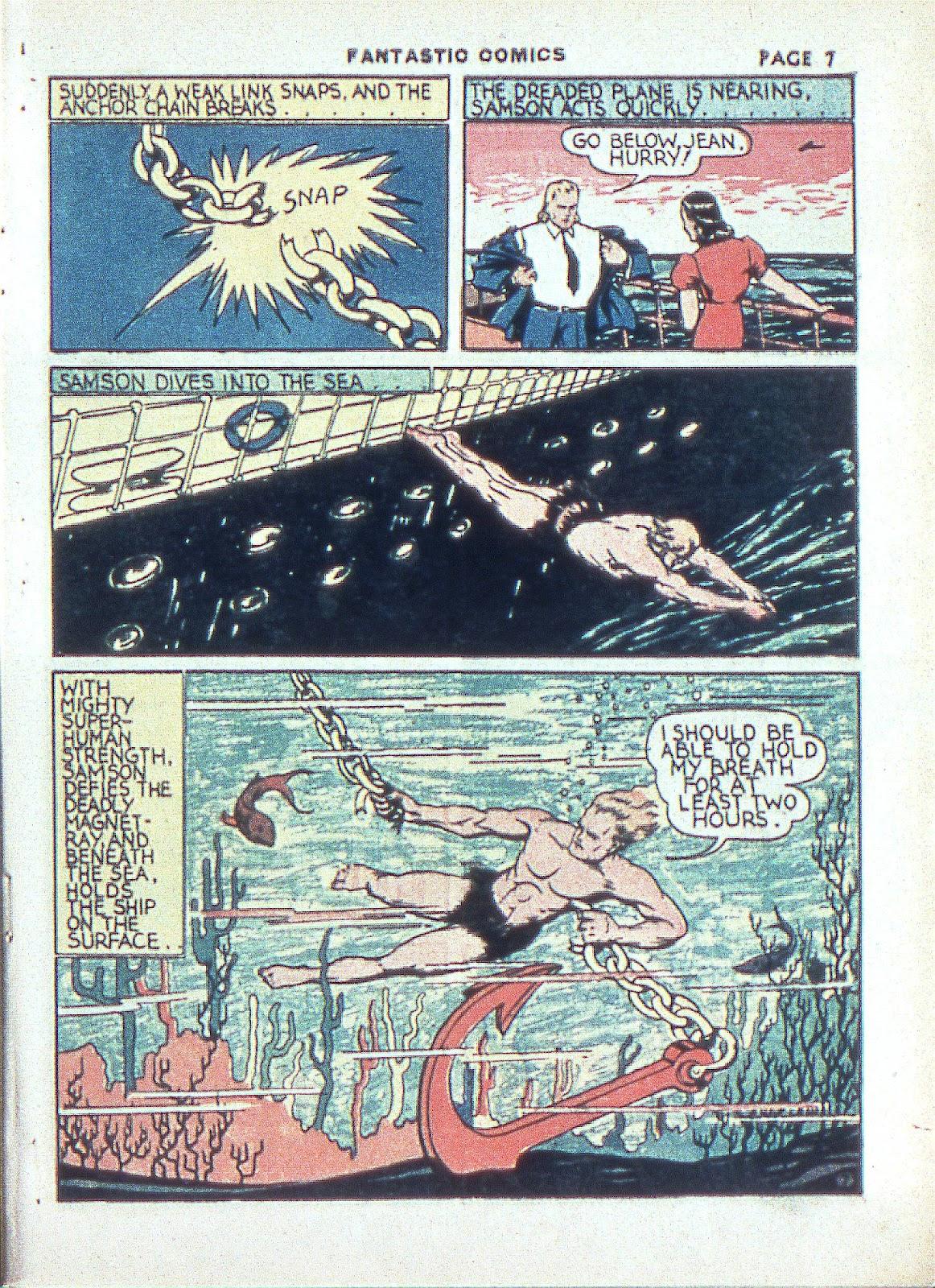 Read online Fantastic Comics comic -  Issue #3 - 10