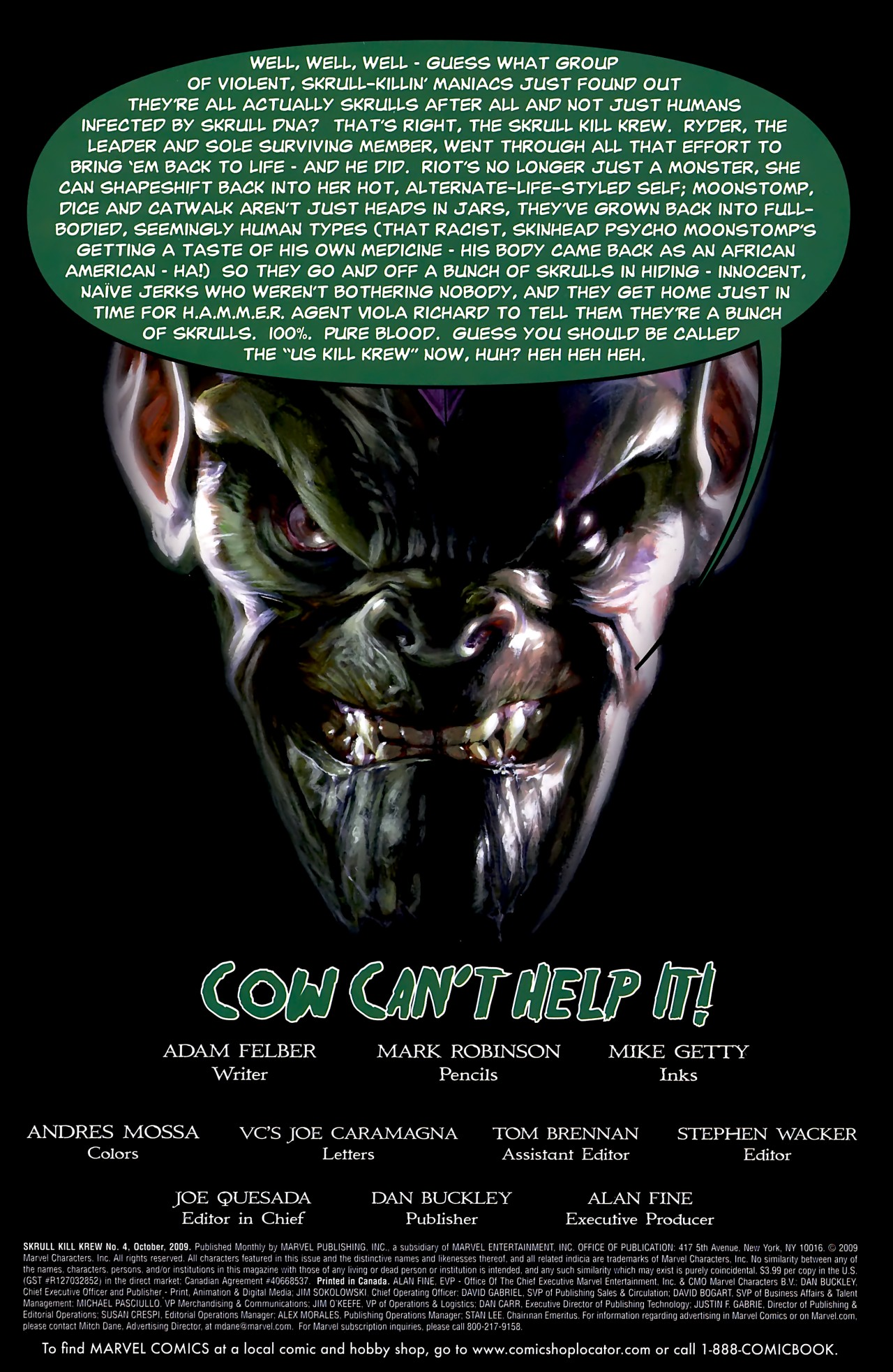 Read online Skrull Kill Krew (2009) comic -  Issue #4 - 3