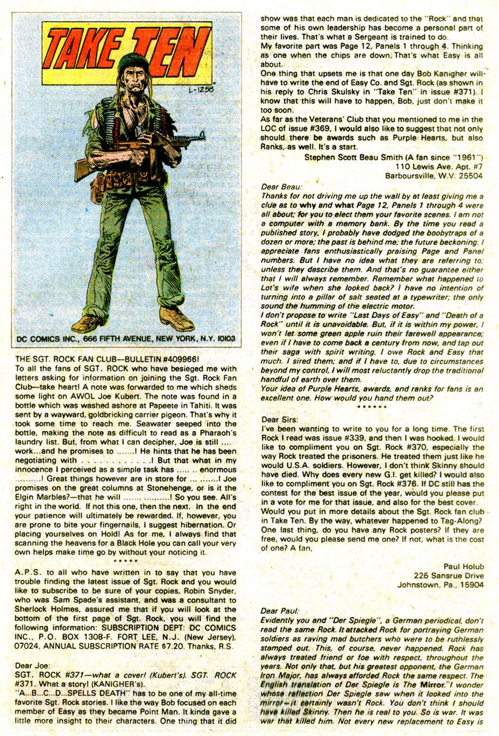Read online Sgt. Rock comic -  Issue #375 - 32