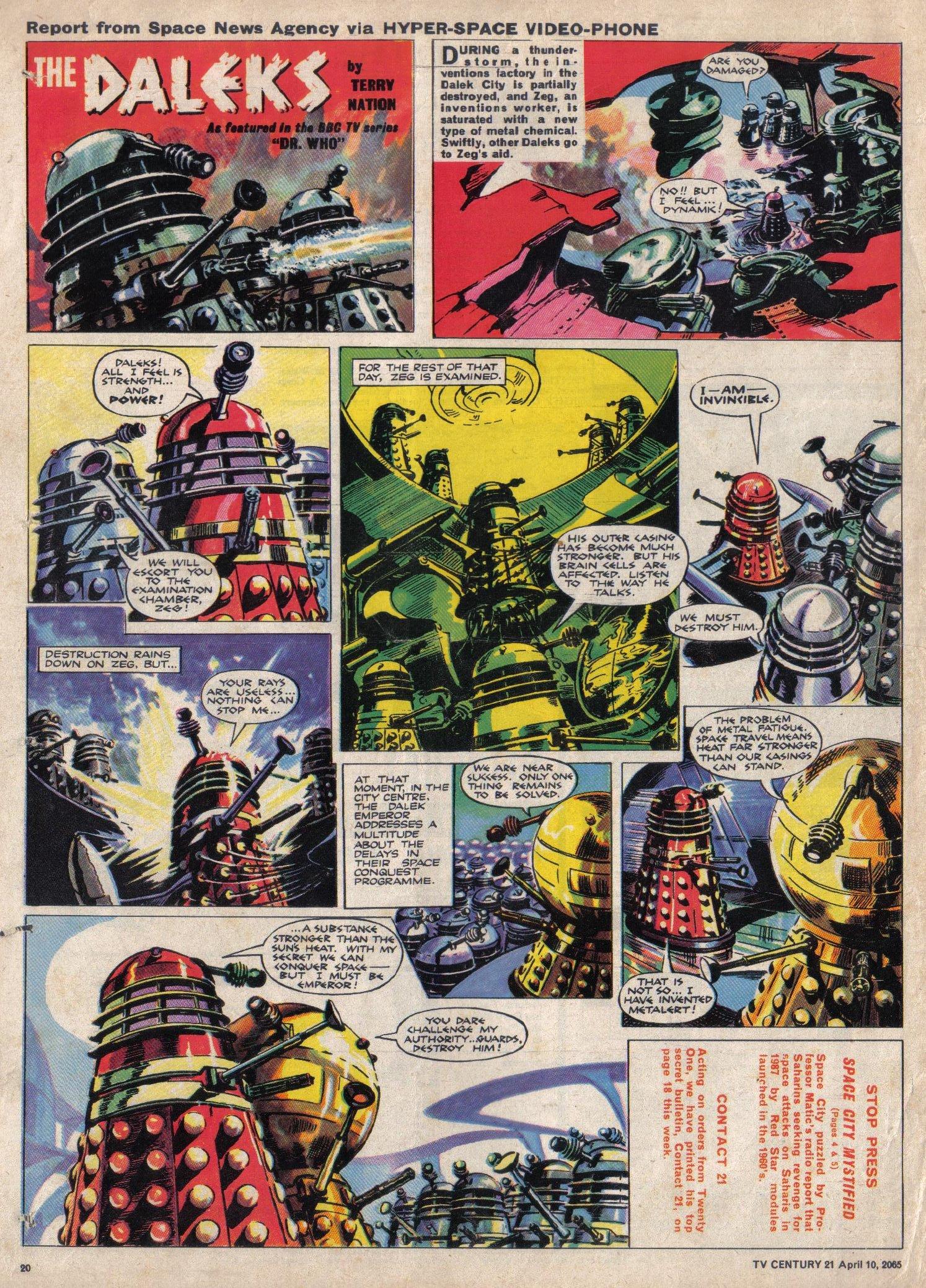 Read online TV Century 21 (TV 21) comic -  Issue #12 - 19