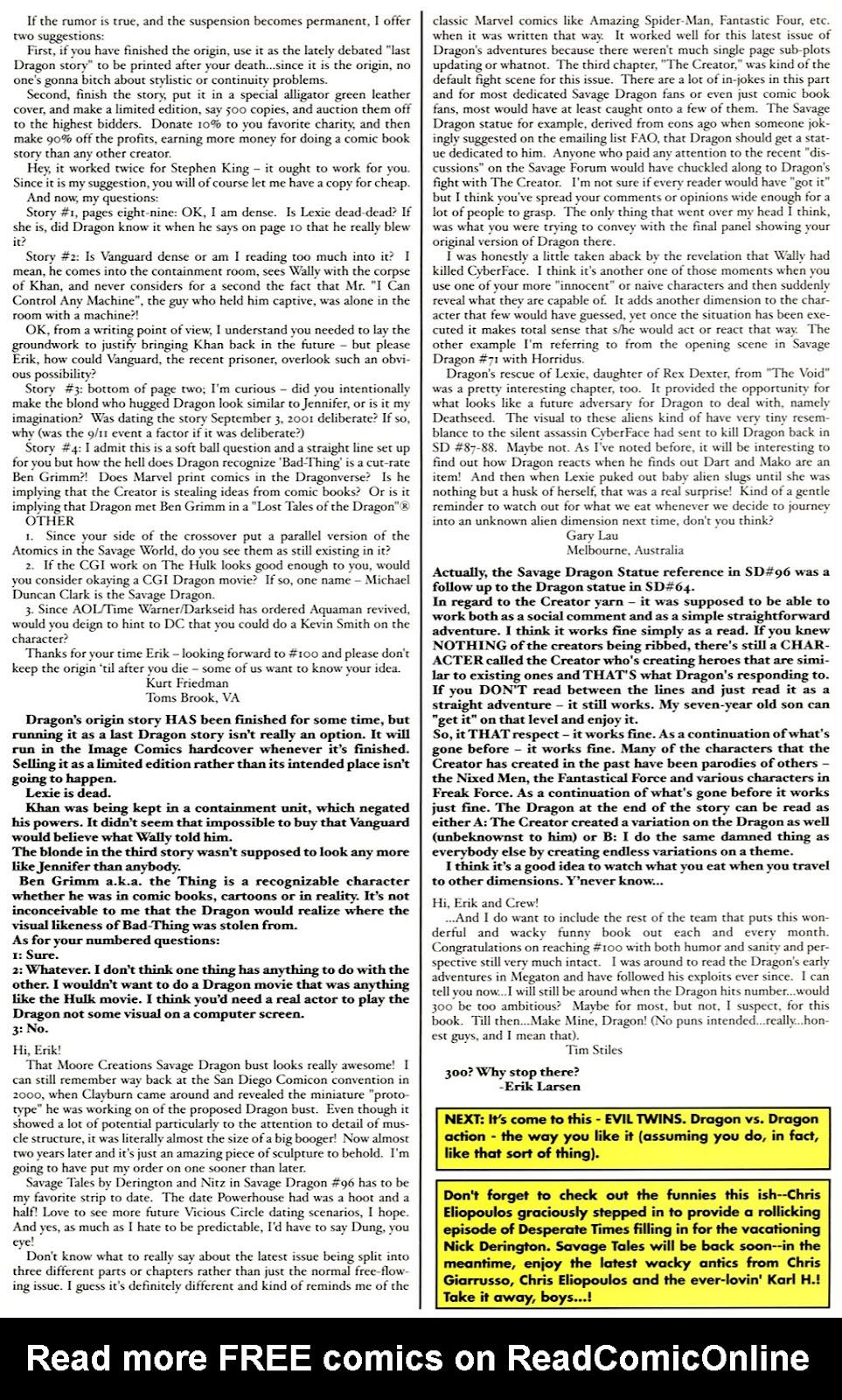The Savage Dragon (1993) Issue #98 #101 - English 29