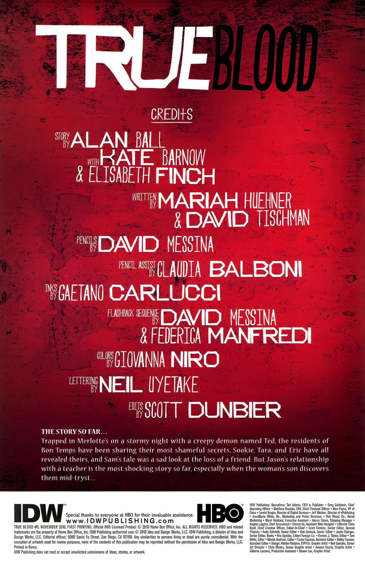 Read online True Blood (2010) comic -  Issue #5 - 3