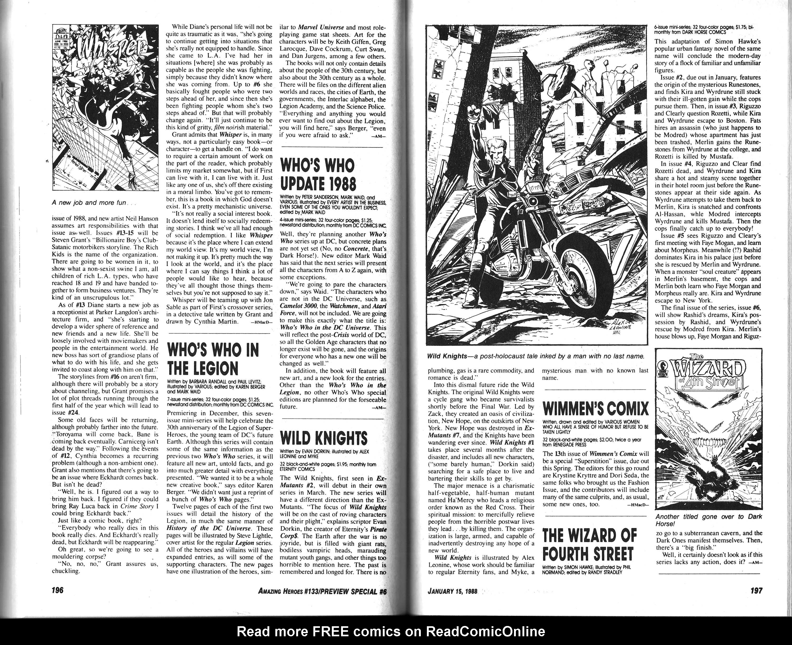 Read online Amazing Heroes comic -  Issue #133 - 100