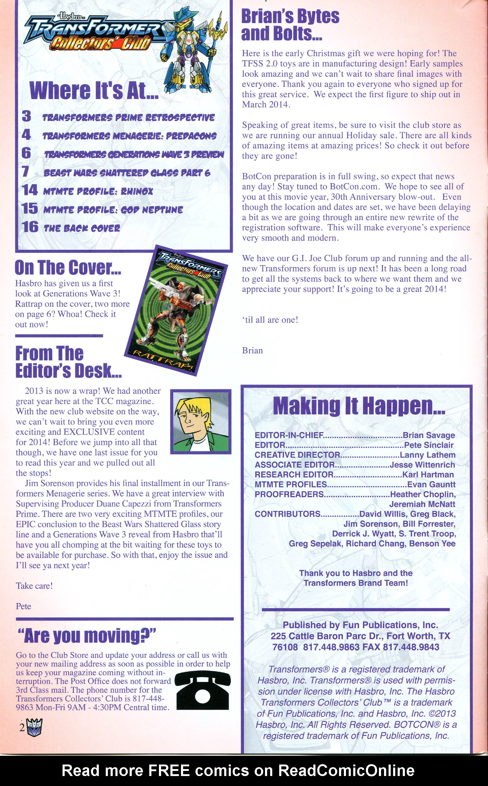 Read online Transformers: Collectors' Club comic -  Issue #54 - 2