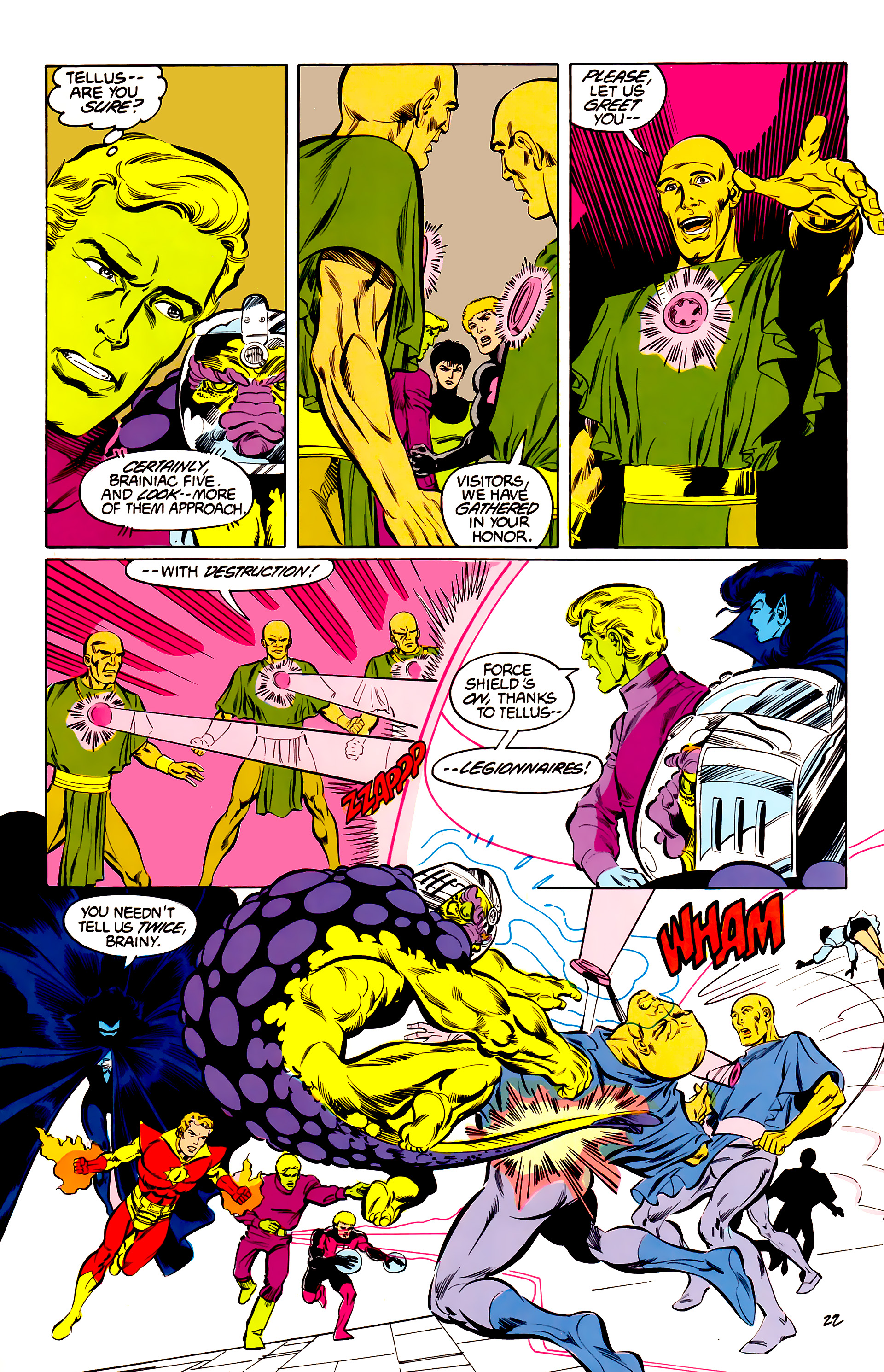 Legion of Super-Heroes (1984) 42 Page 22
