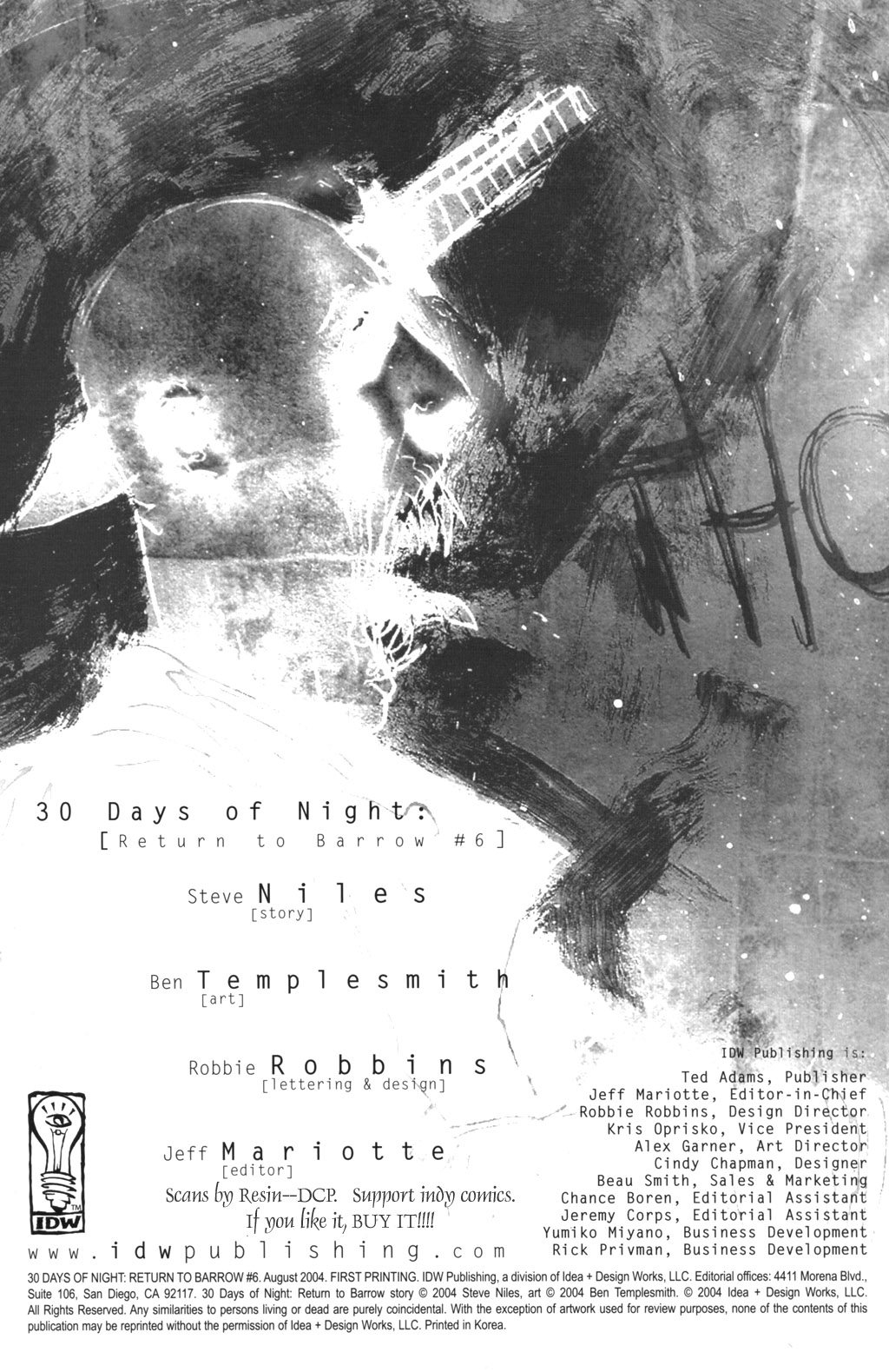 Read online 30 Days of Night: Return to Barrow comic -  Issue #6 - 2