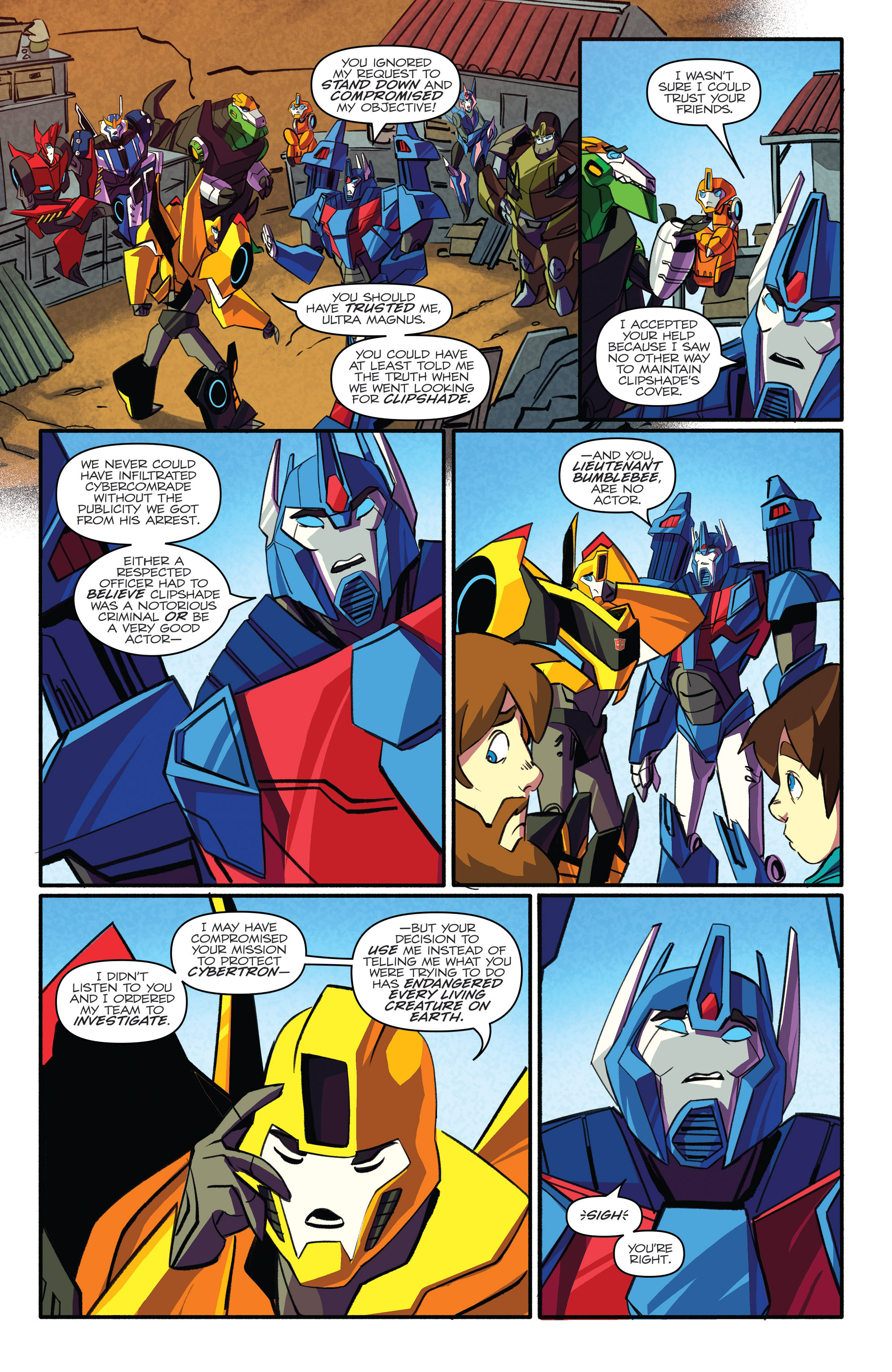 Read online Transformers: Robots In Disguise (2015) comic -  Issue #4 - 6